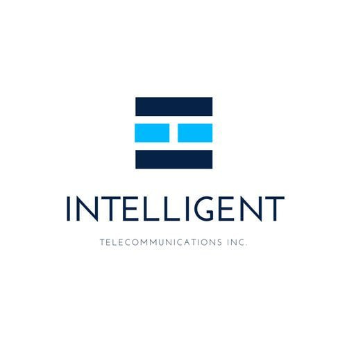 Canva logo template blue blocks internet logo