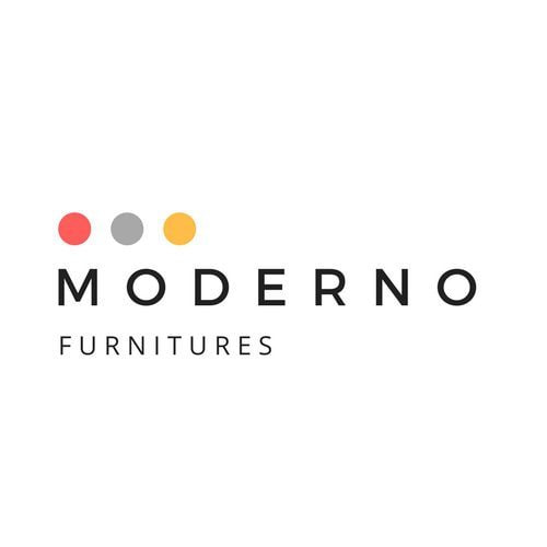 Canva logo template simple white home furnishing logo
