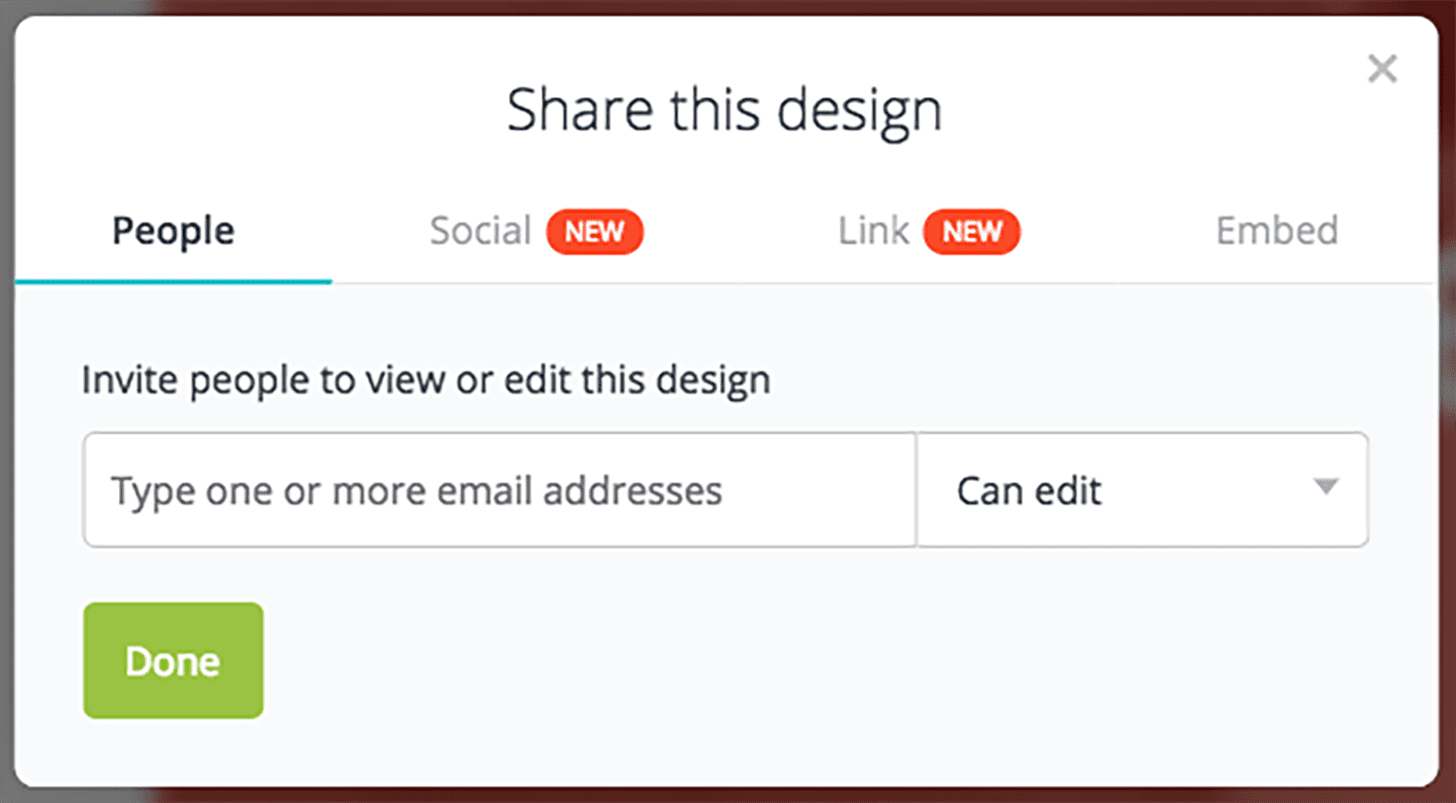Canva share your design with your team