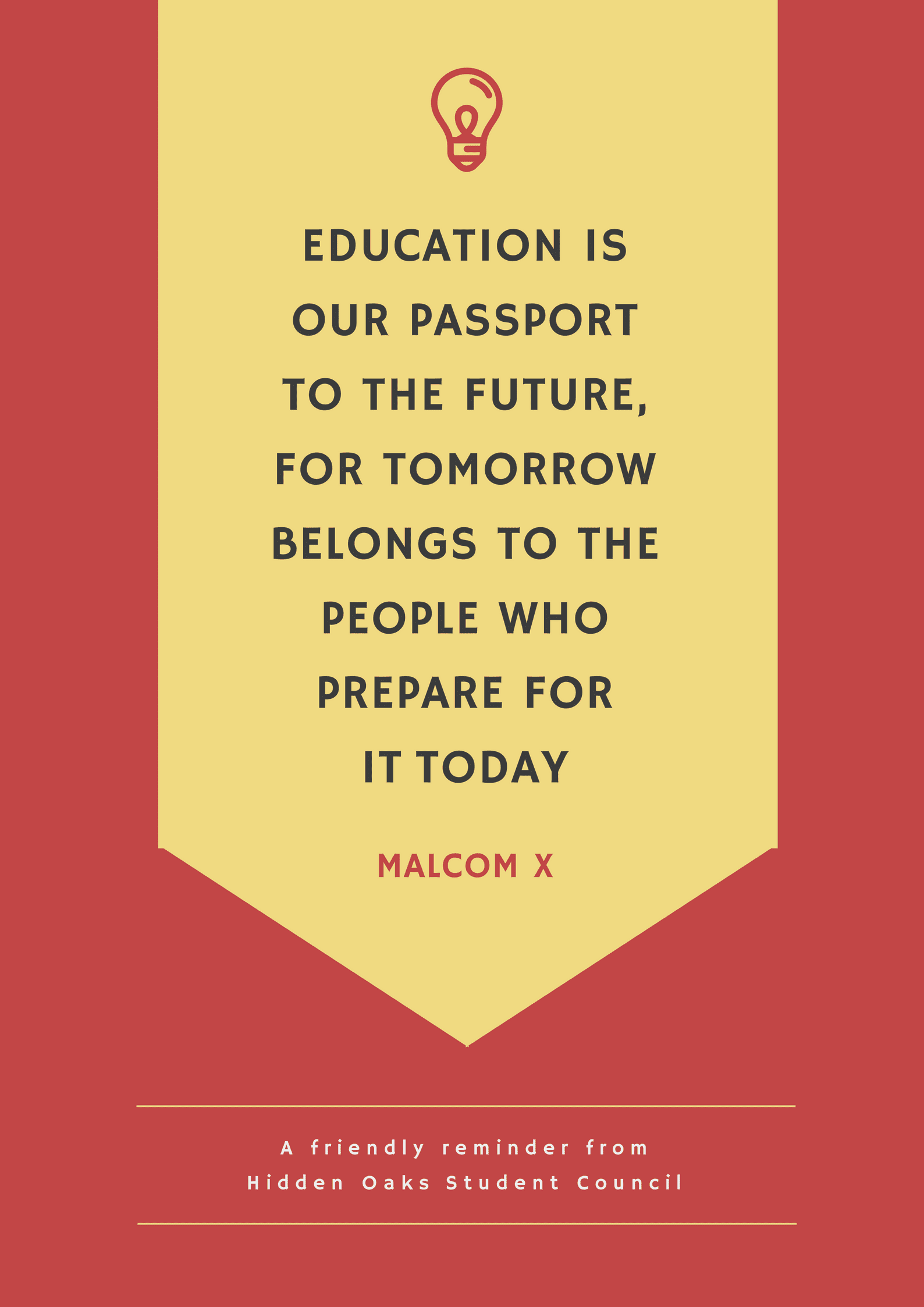 Inspirational Education Quote School poster