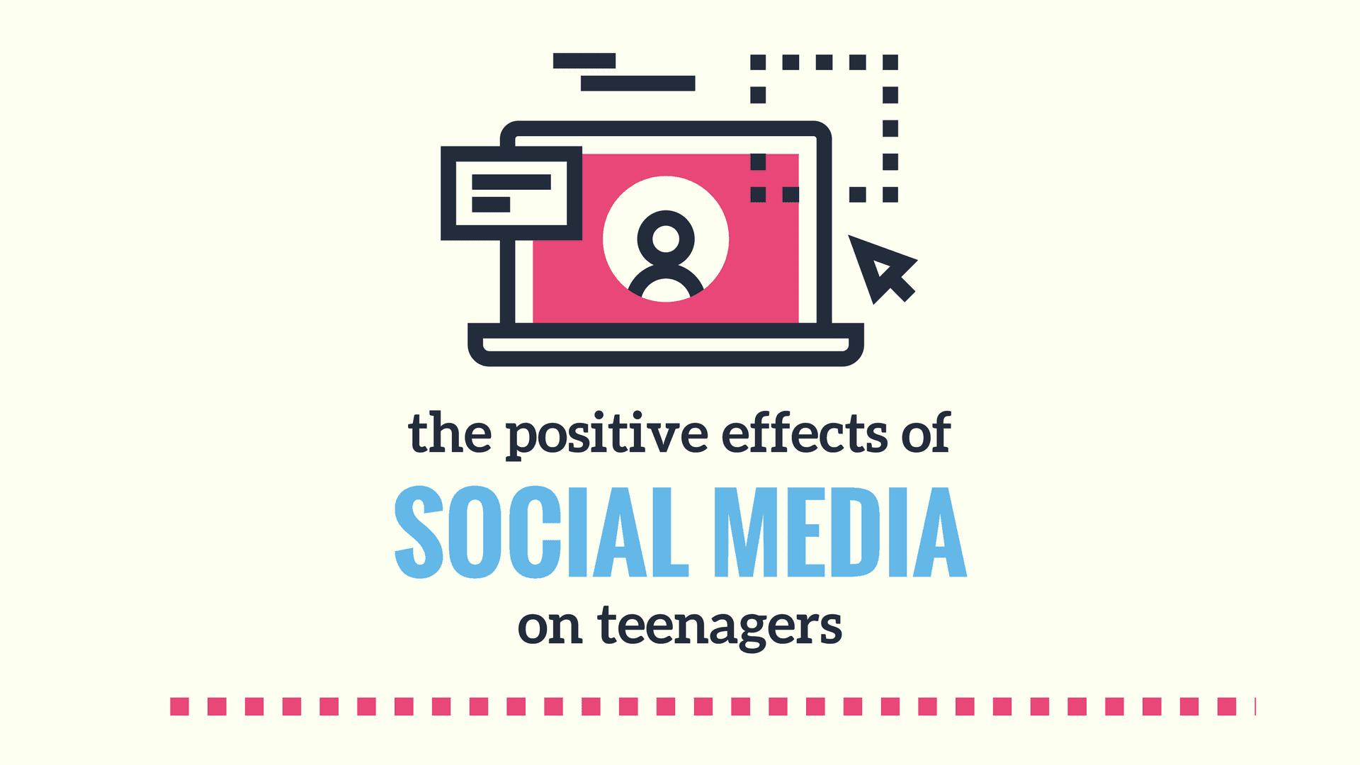 Pink Vector Social Media Technology Presentation