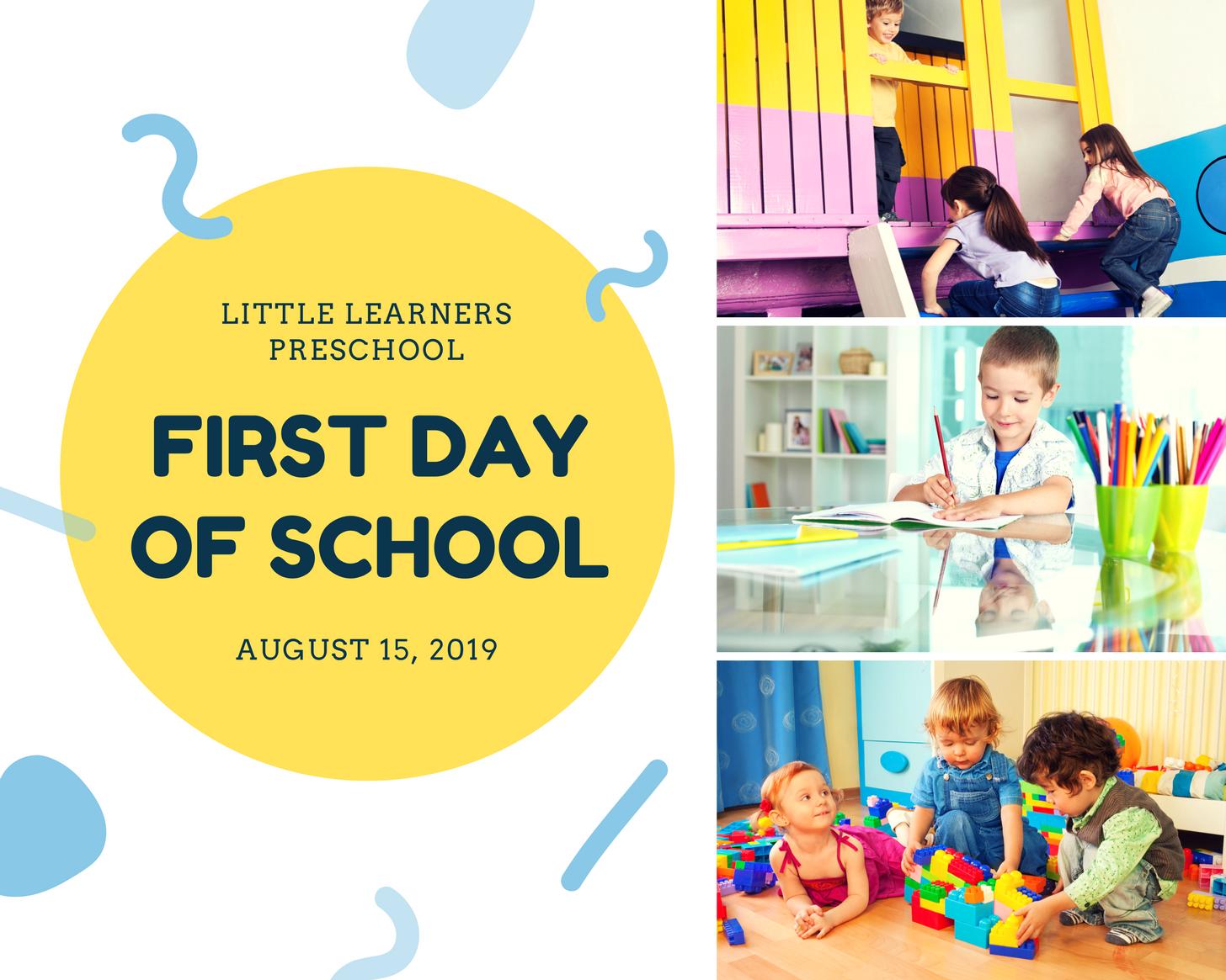 Yellow Preschool Photo Collage