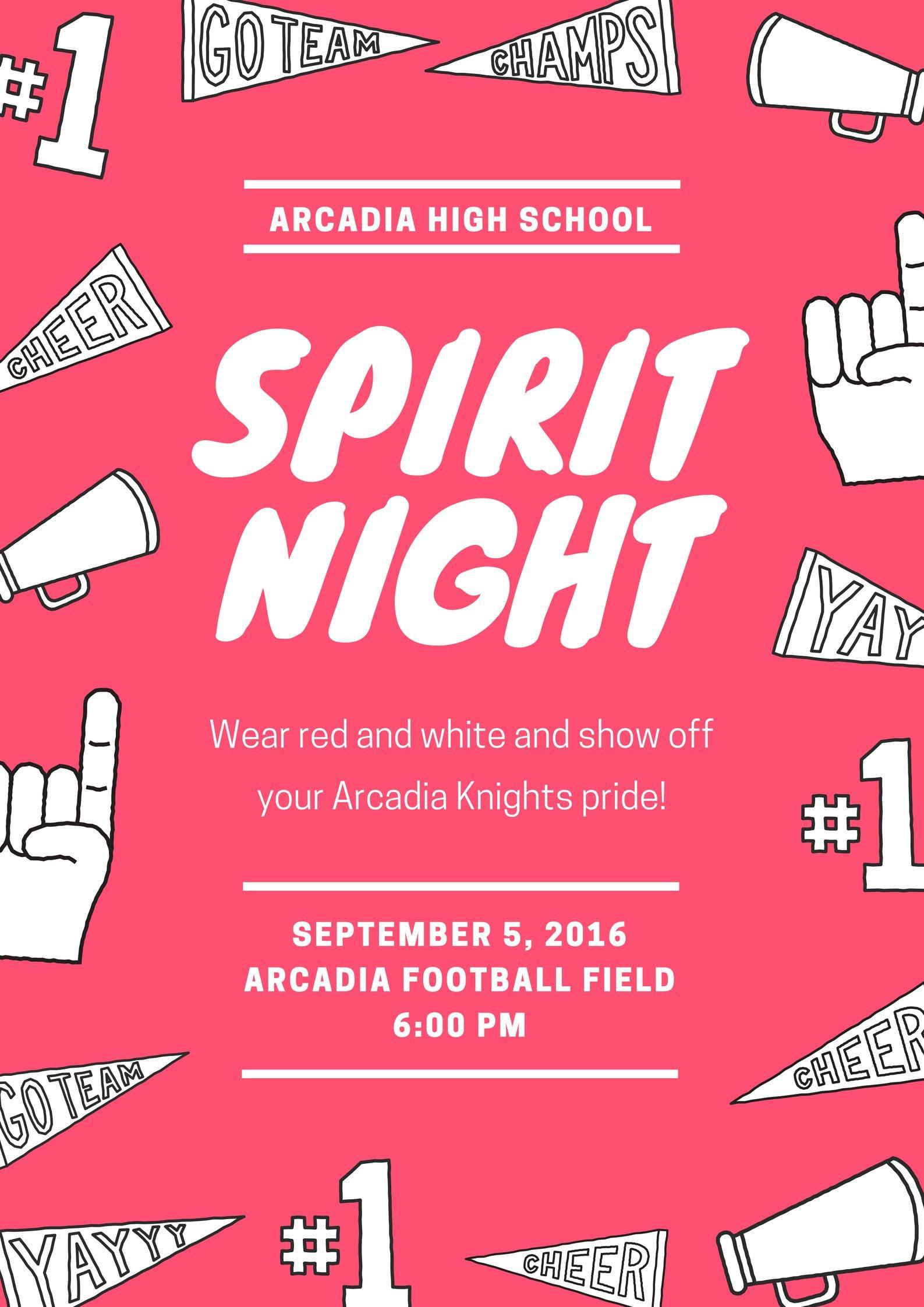 School Icons Spirit Night Poster