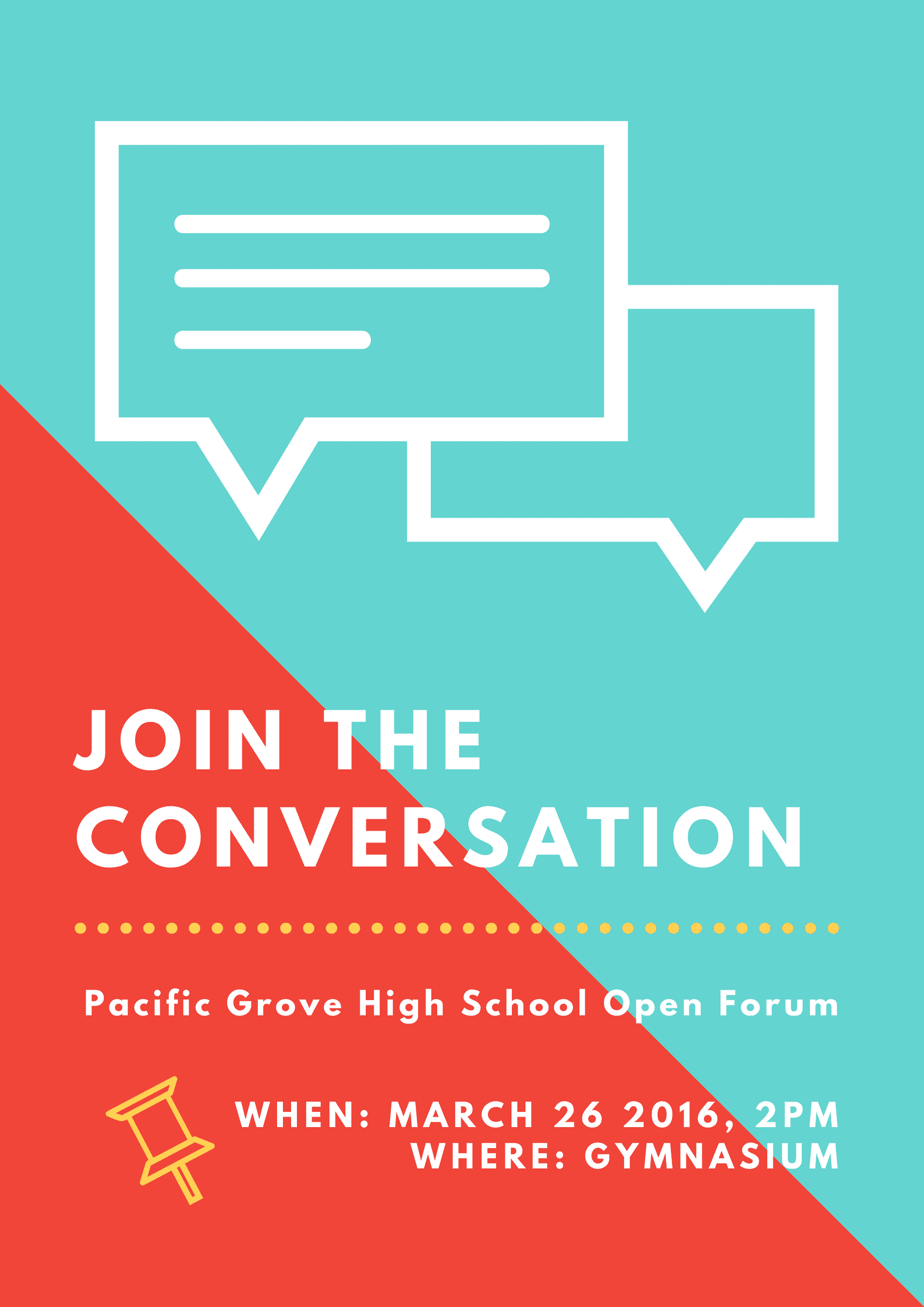 Open Forum Student Council Poster