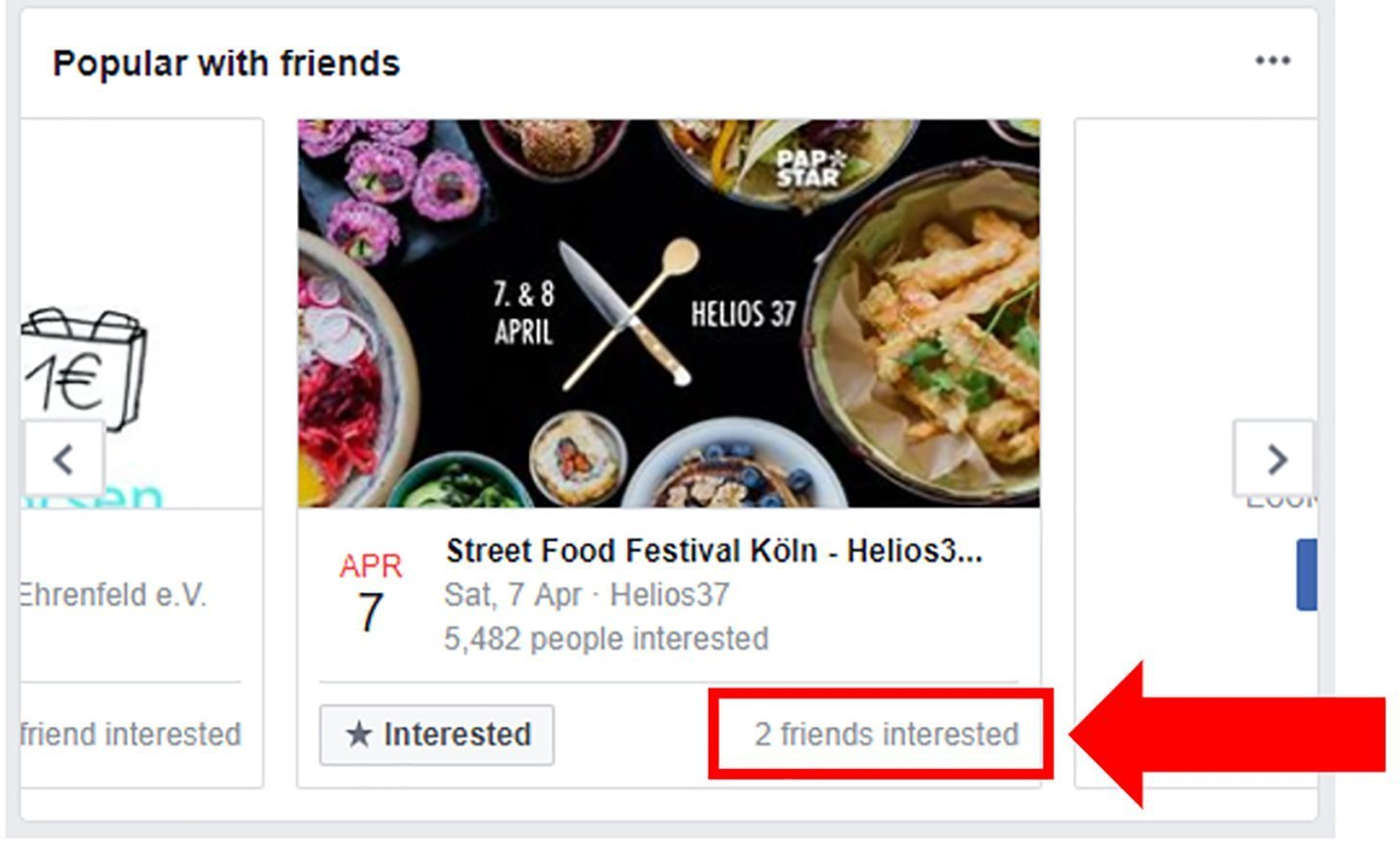 Facebook events screenshot