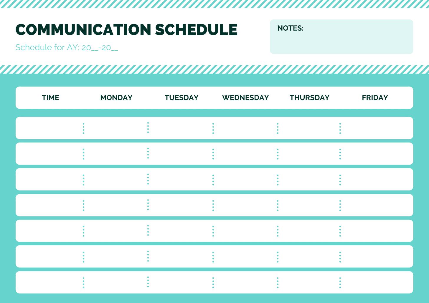 Blue Simple Class Schedule