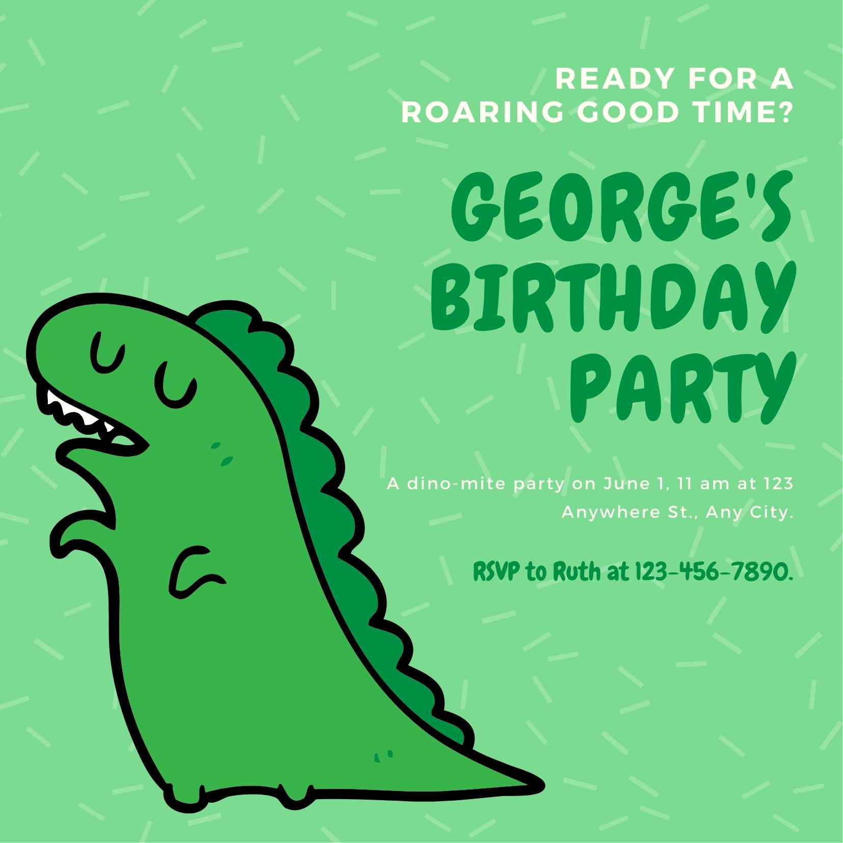 Convites para aniversário