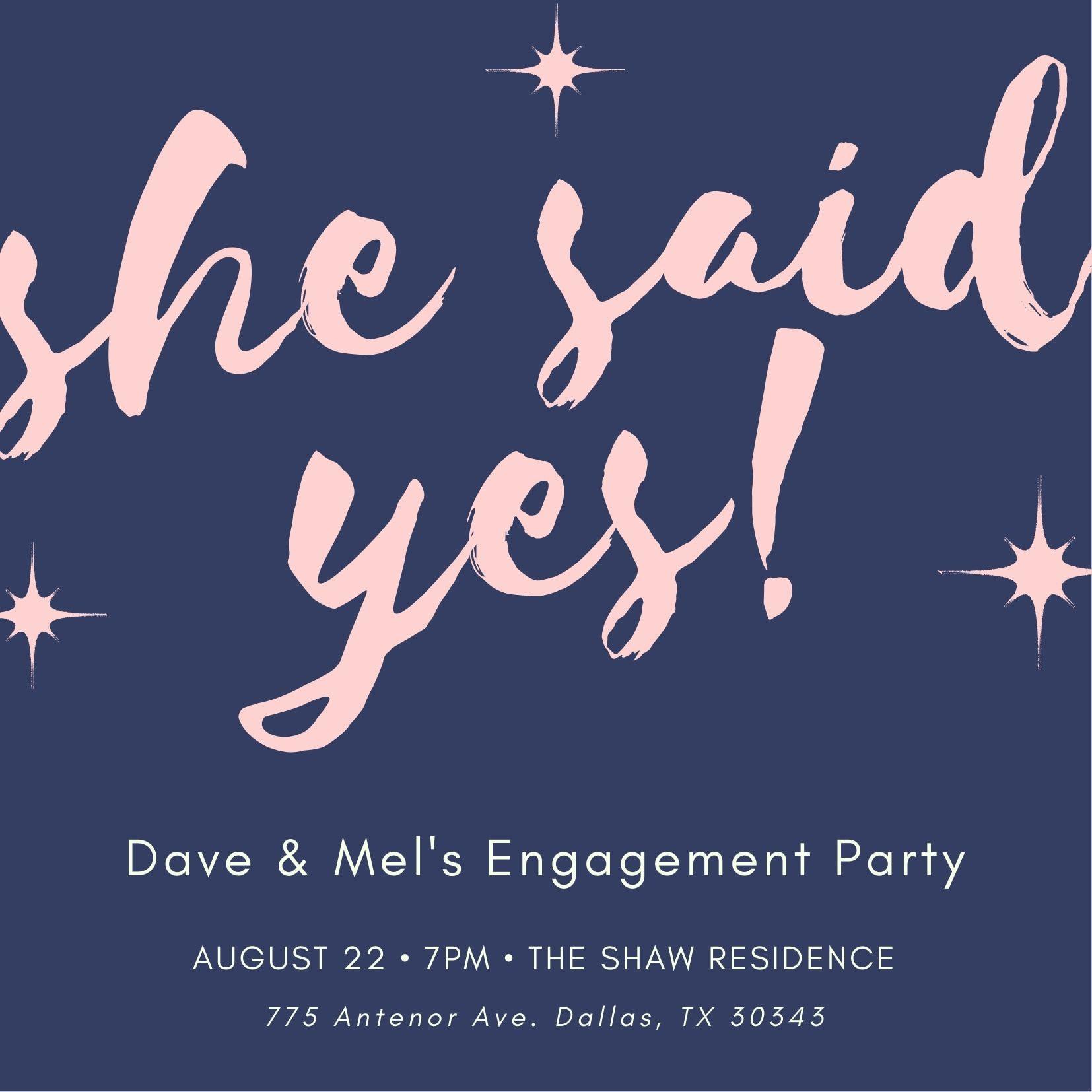 Convites para festas de noivado