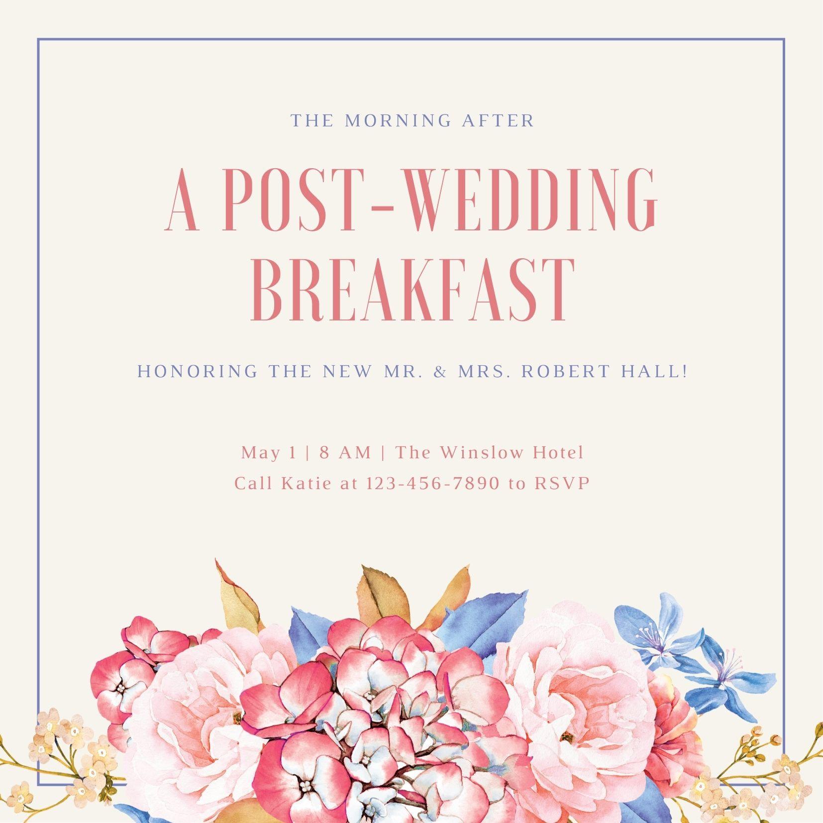 フローラルな結婚式招待状