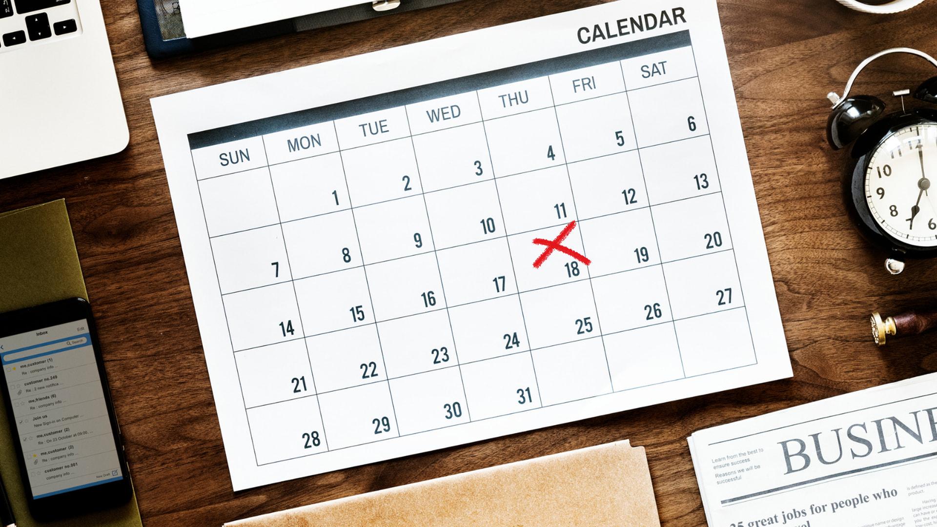 canva, calendrier, marketing