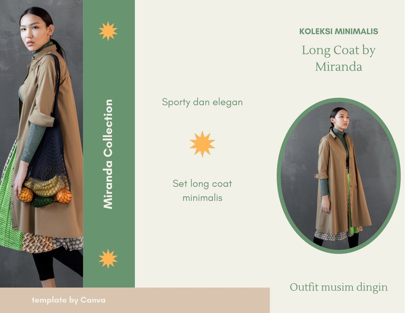 Brosur Daftar Harga Fashion Perempuan Long Coat Set Minimalis