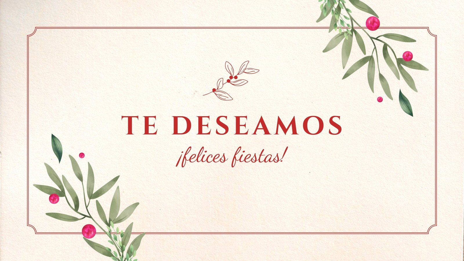 Crema y Verde Vintage Felicitaciones Portada para Facebook