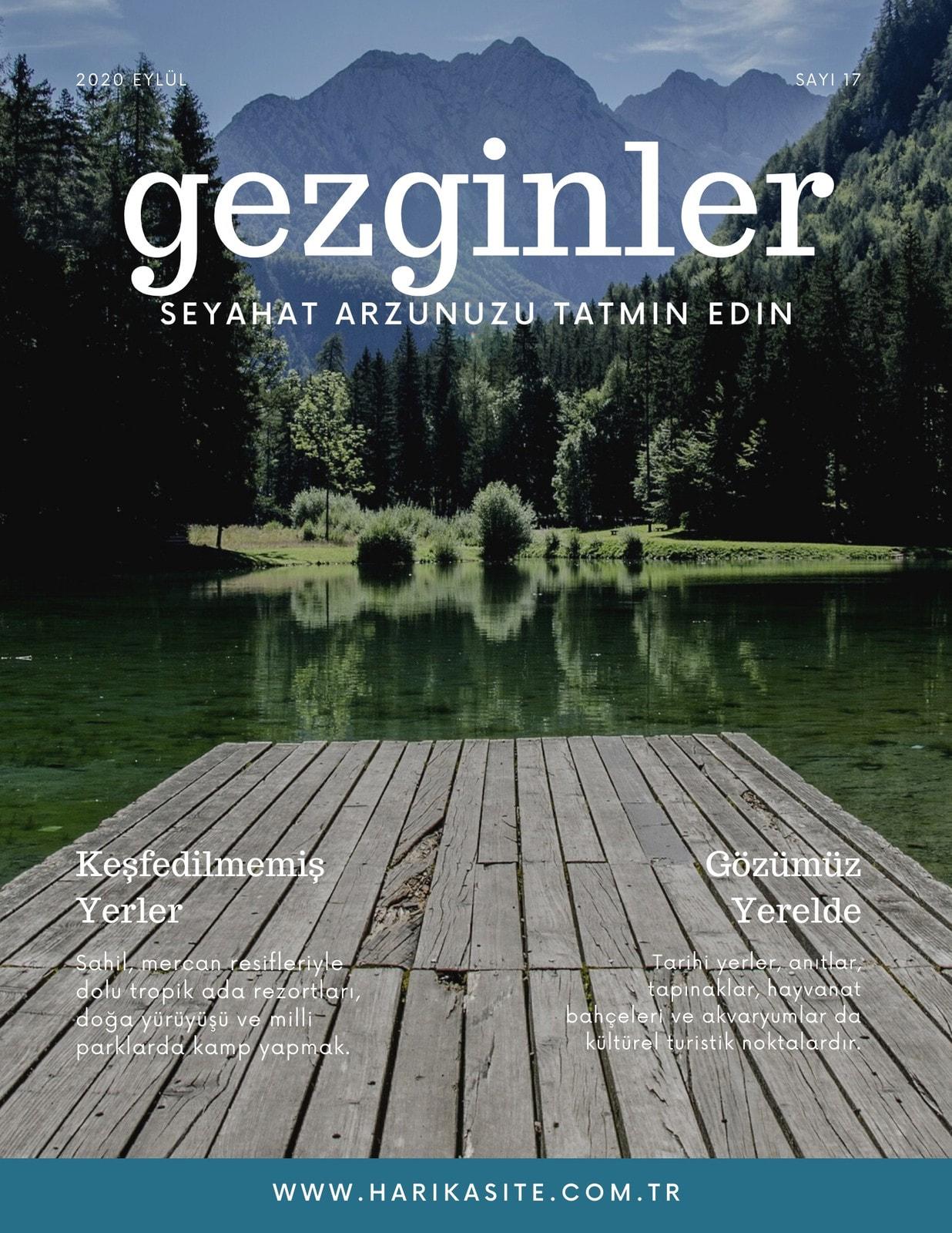 Beyaz Modern Göl Seyahat Dergi