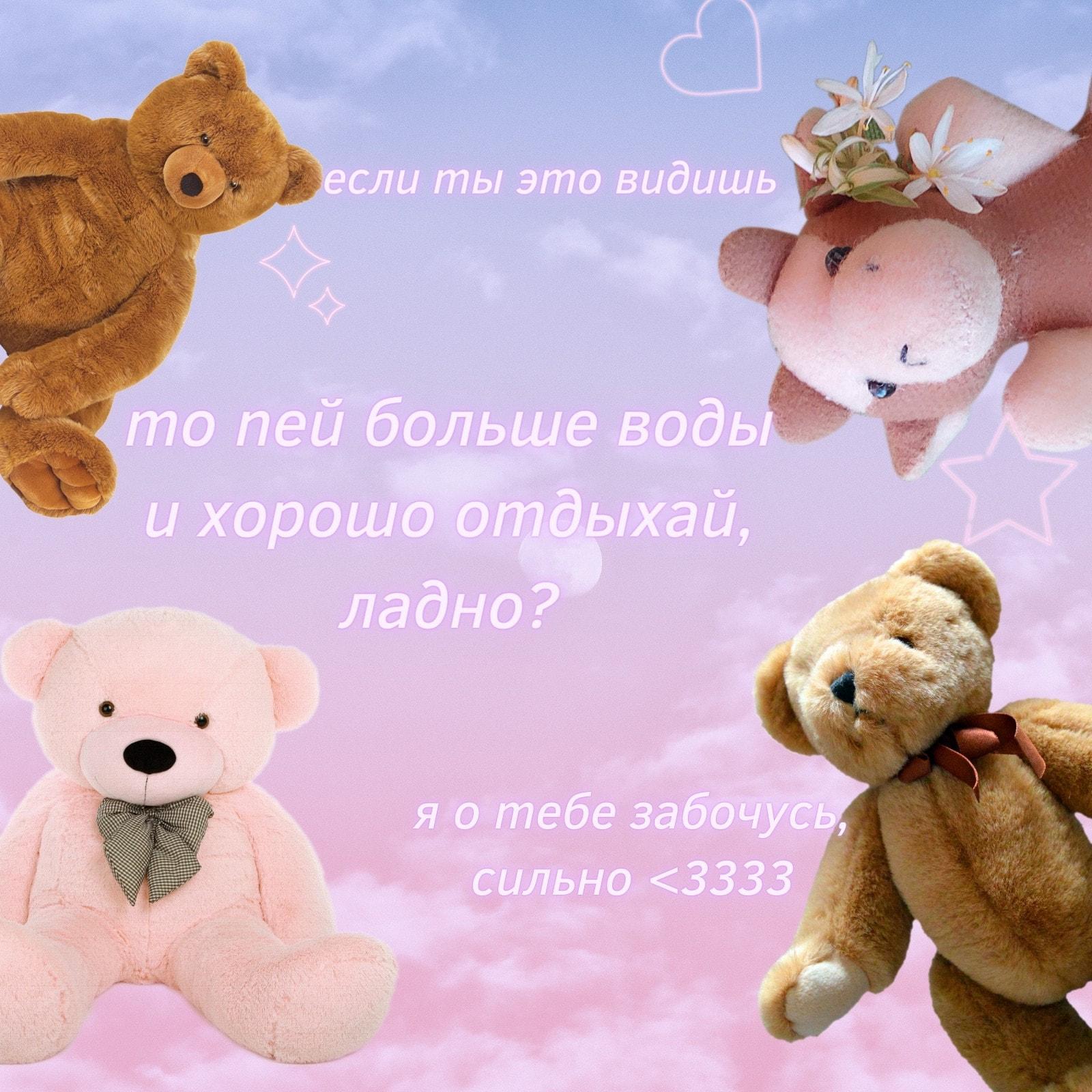 Розовый Медведь Необычный Градиентный Полезный Квадрат Вдохновляющий Мем