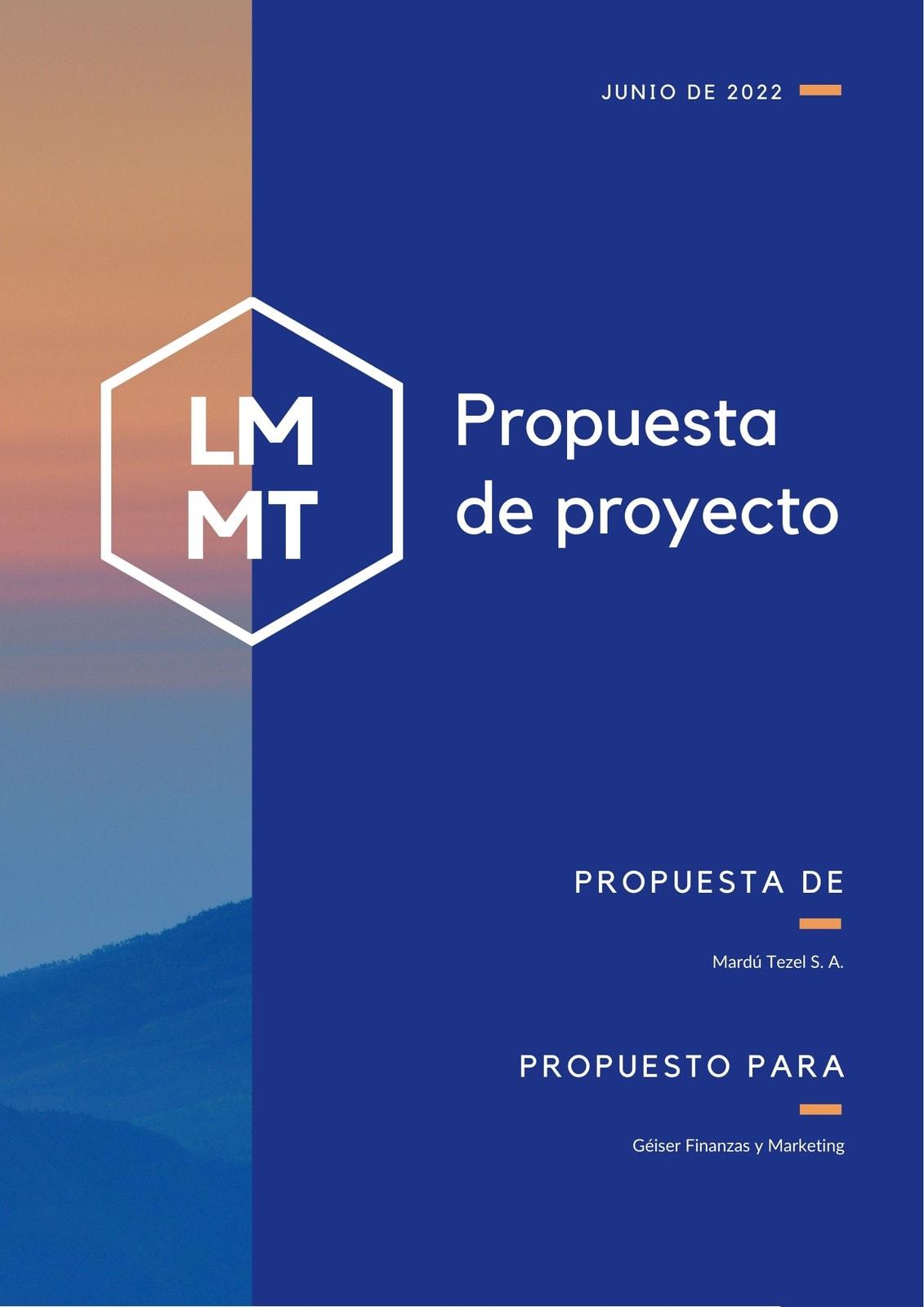 Azul Naranja Foto Proyecto General Propuesta