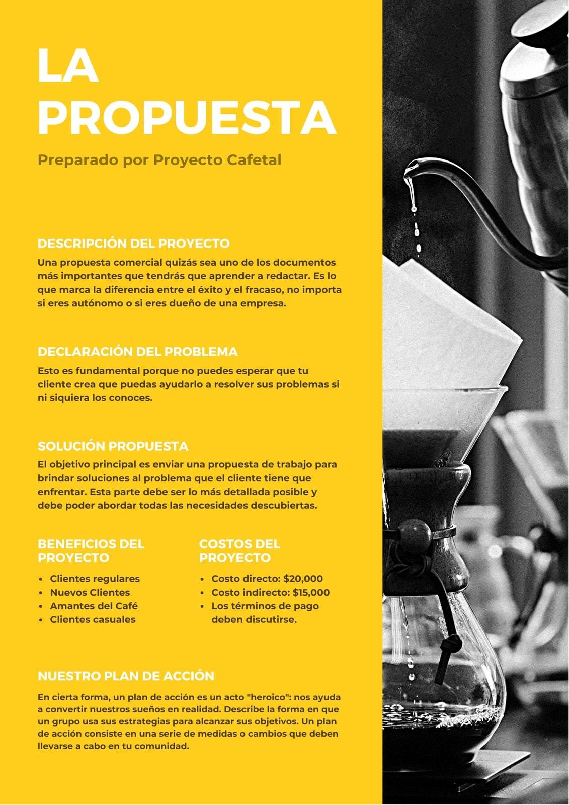 Amarillo y Blanco Proyecto General Propuesta