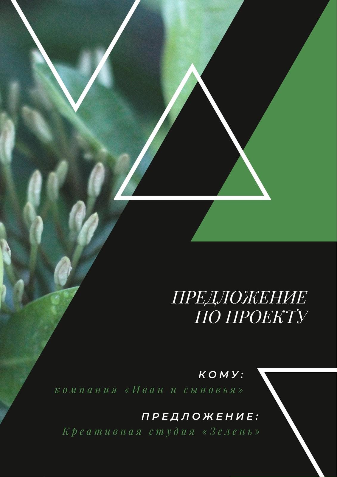 Зеленый Природа Треугольники Проект Общее Предложение