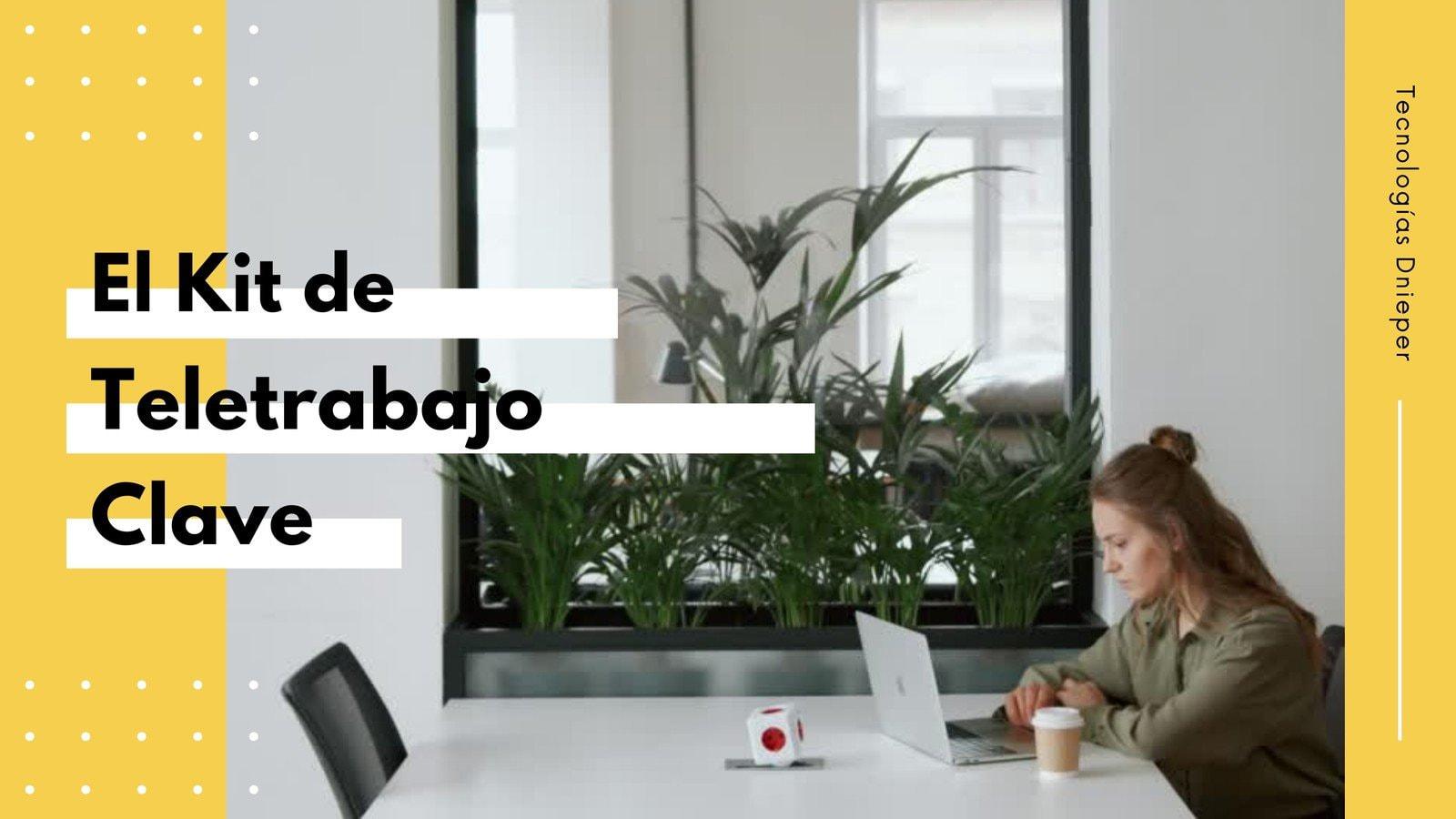 Amarillo Blanco Kit de Herramientas Empresas/Trabajo a Distancia Vídeo 19:6