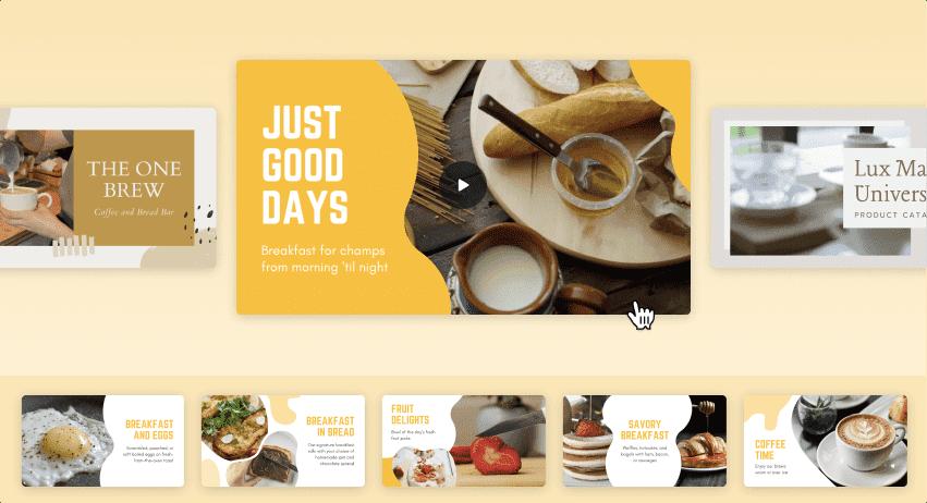 슬라이드쇼 만들기 도구 Canva - 콘텐츠 이미지