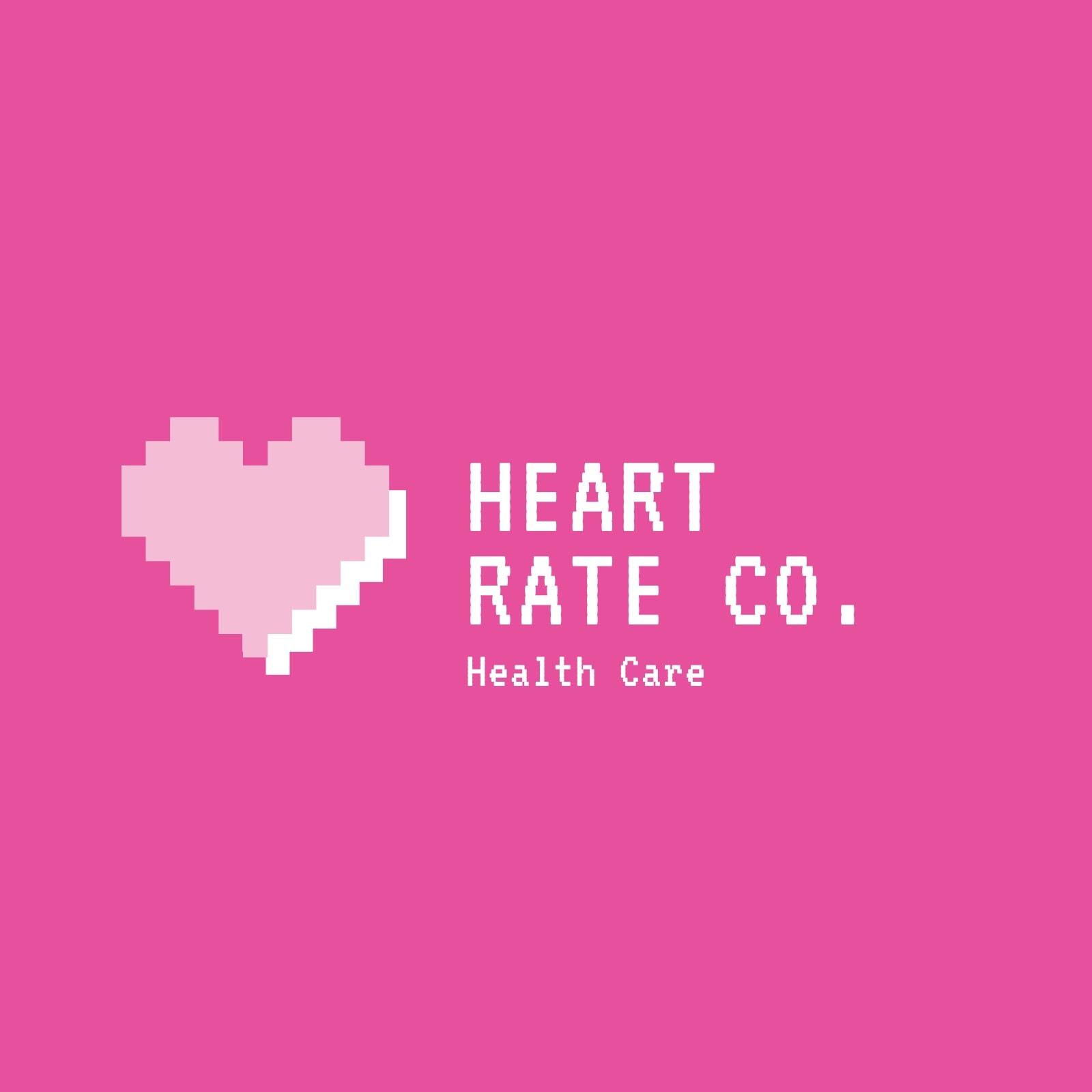 Pink Heart Pixel Band Logo