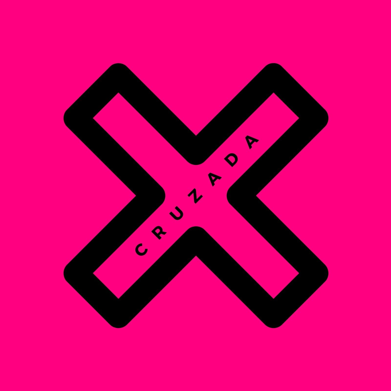Pink Cross Icon Band Logo