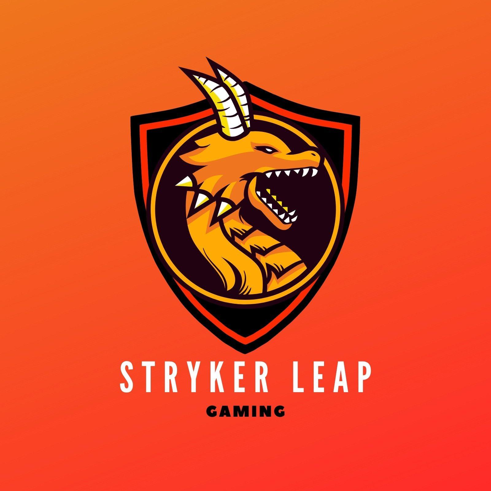 Orange and Red Gaming Badge Logo