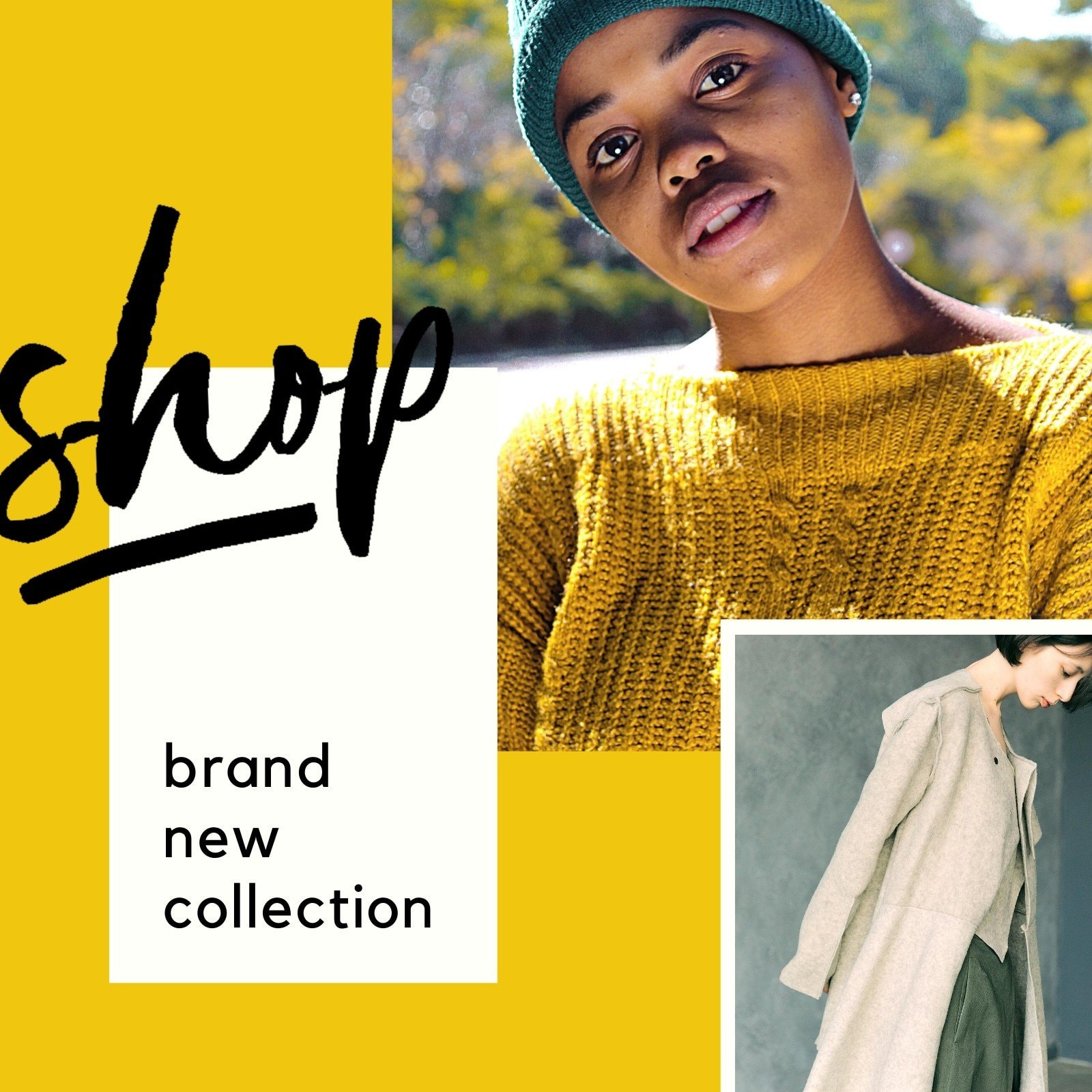 Yellow and Black Fashion Collection Animated Social Media Graphic
