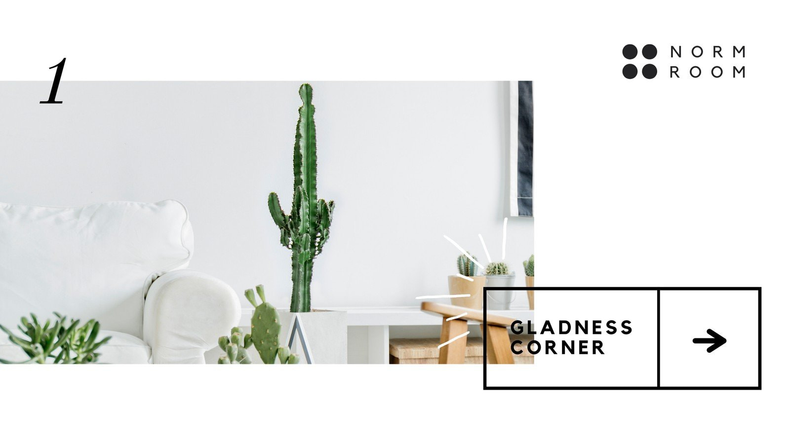 White and Black Minimalist Furniture/Houseware Facebook In-Stream Video Ad
