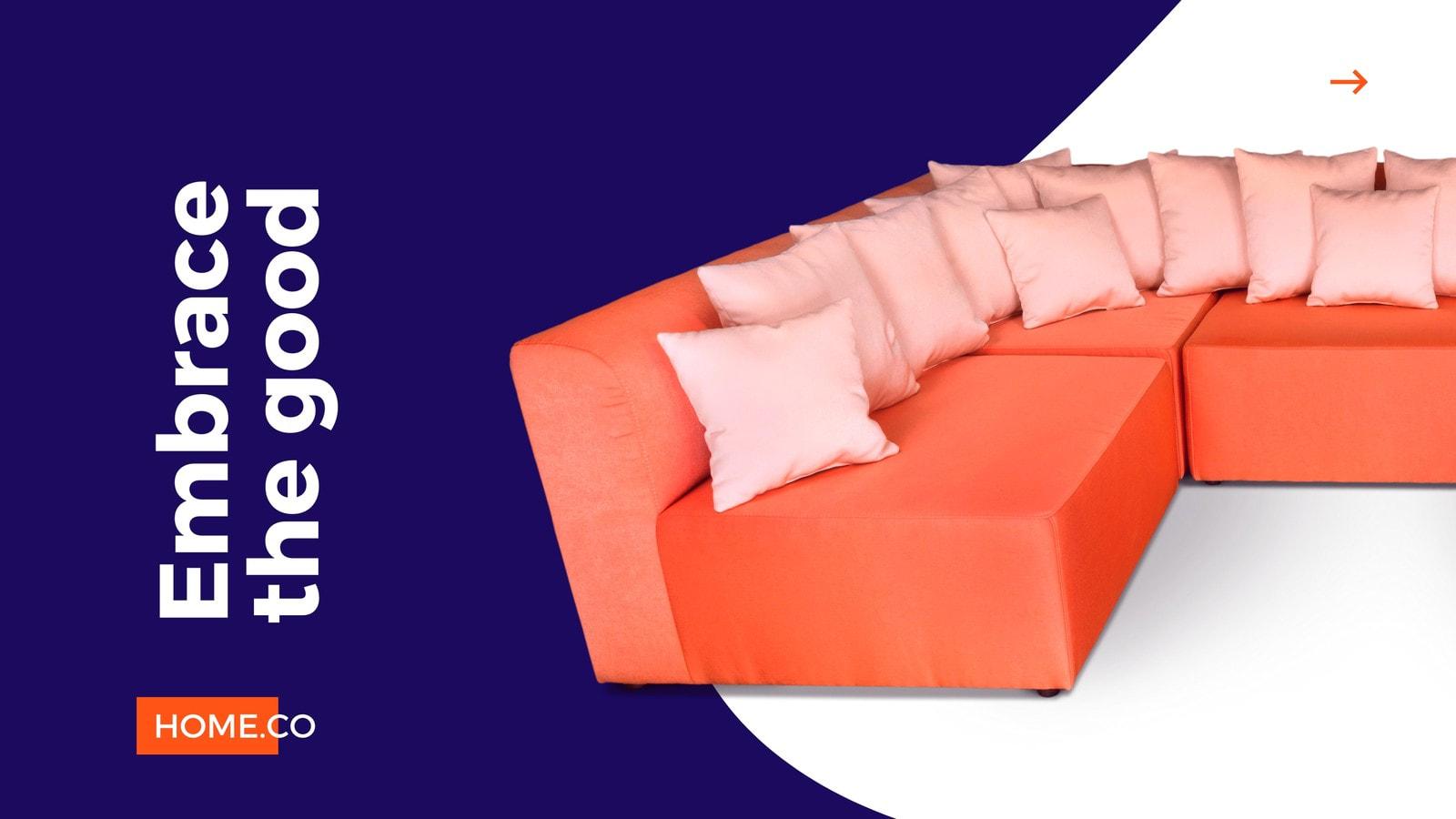 Purple and Orange Classy Furniture/Houseware Facebook In-Stream Video Ad