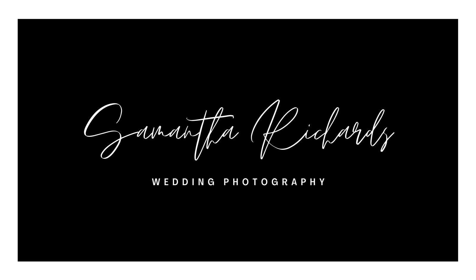 Black Wedding Photography Business Card