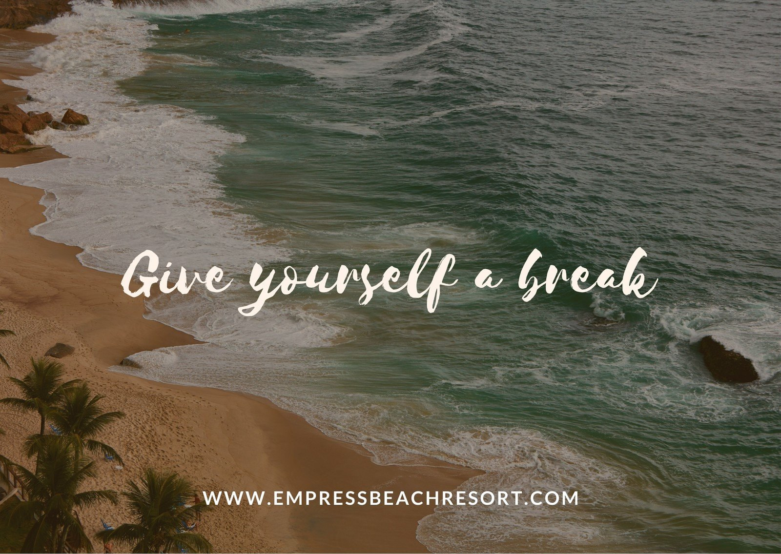 Brown Beach Resort Direct Mail Postcard