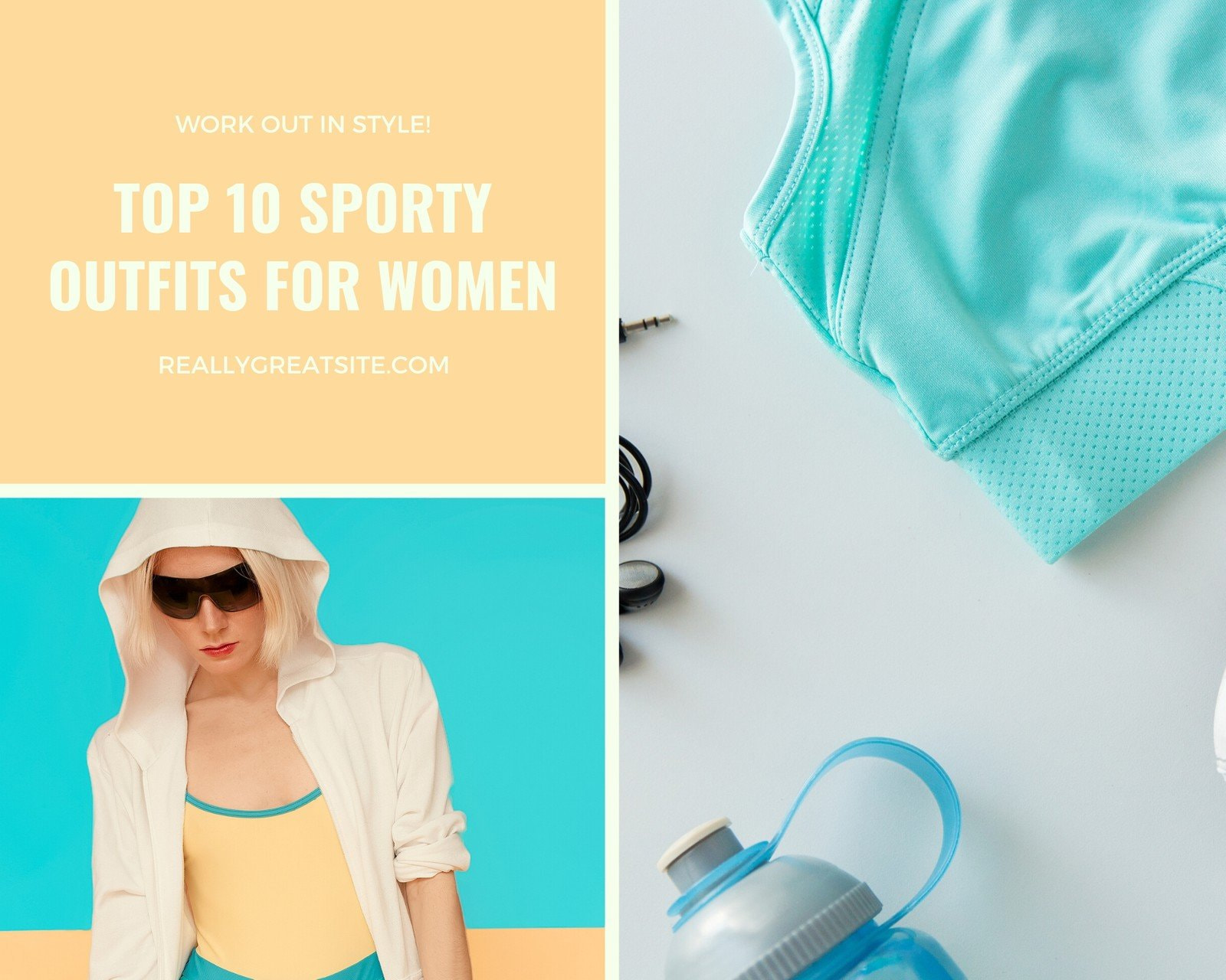 Fashionable Sportswear Photo Collage