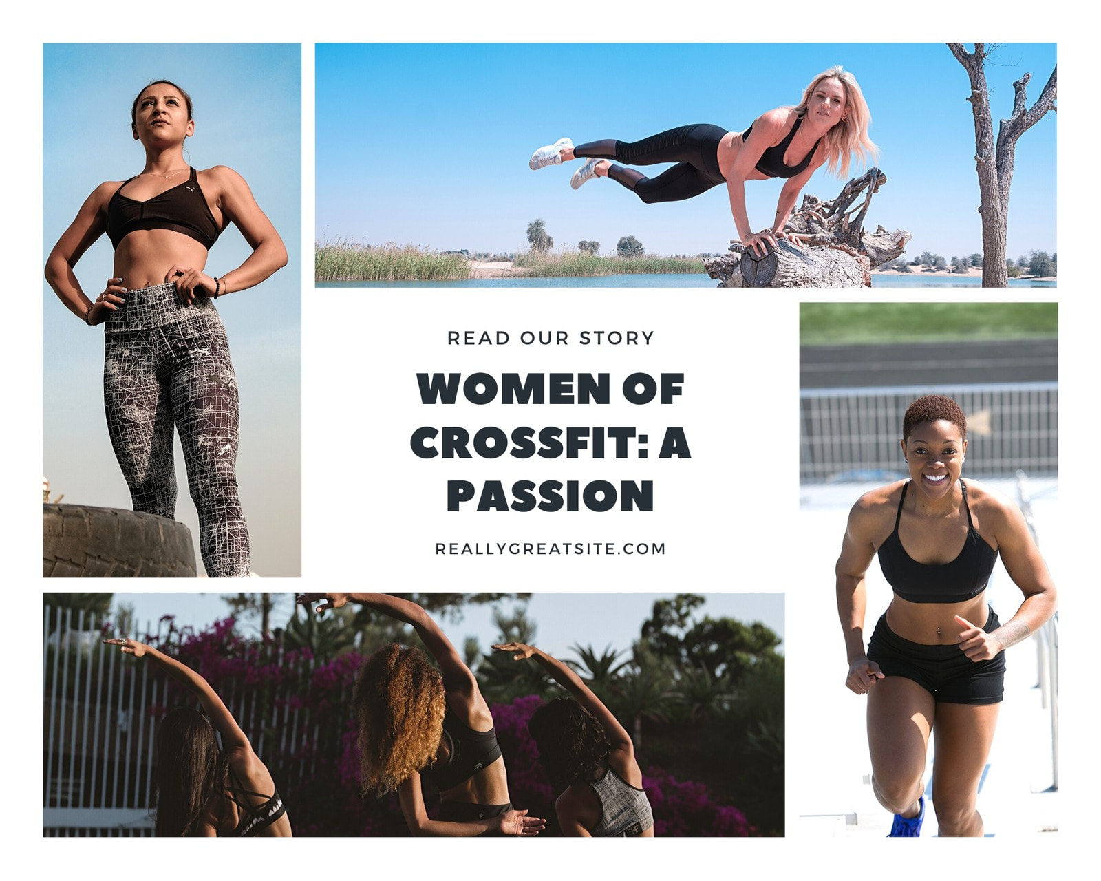 Women's CrossFit Sports Photo Collage