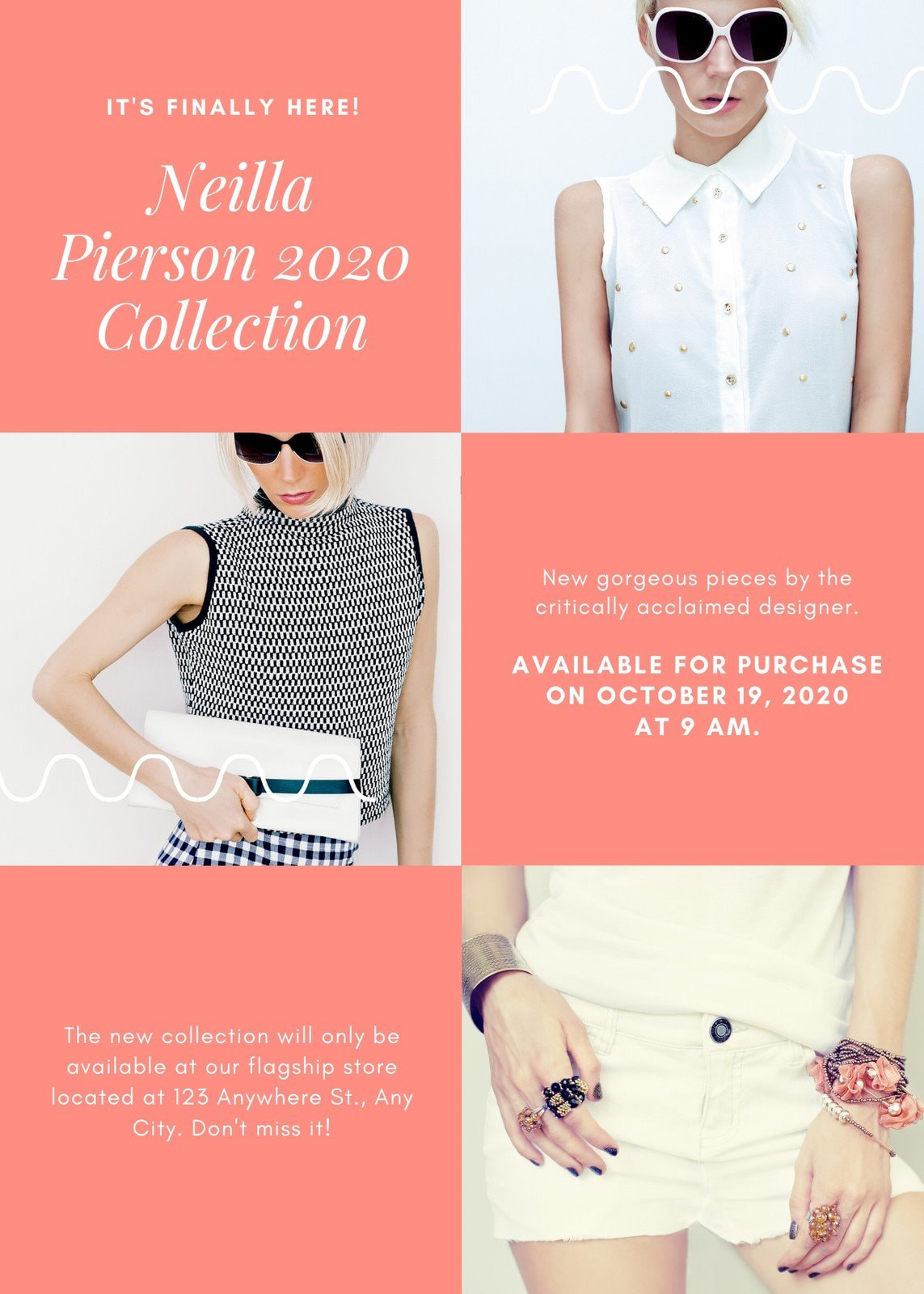 Pink and Orange Clothing Store Flyer