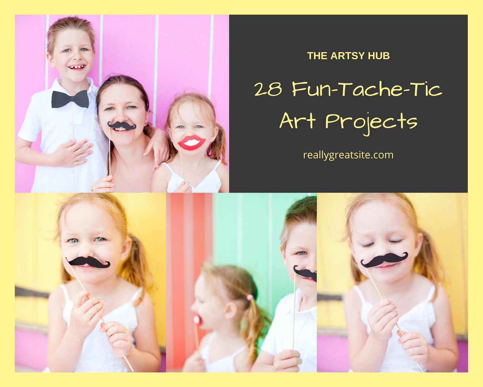 Yellow Family Crafts Photo Collage