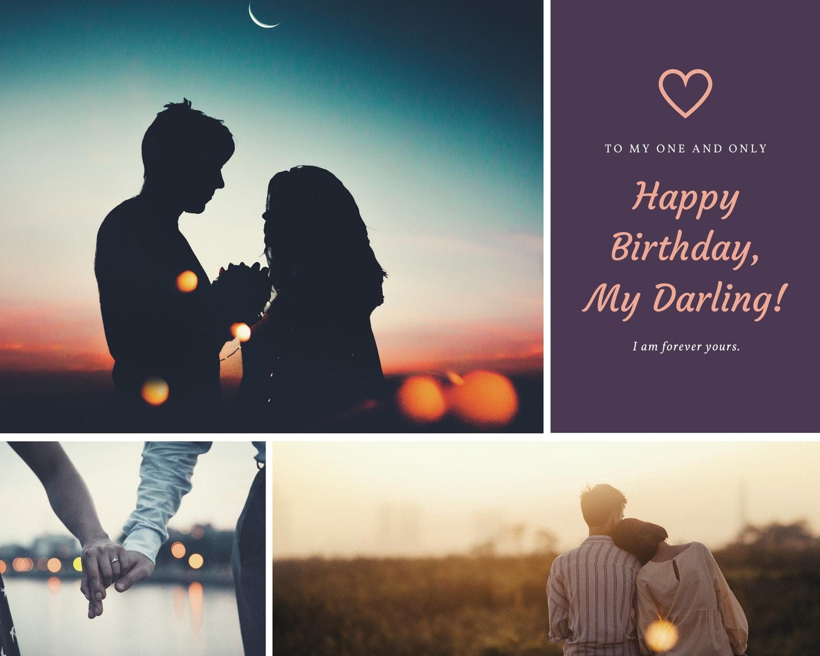 Husband's Romantic Birthday Photo Collage