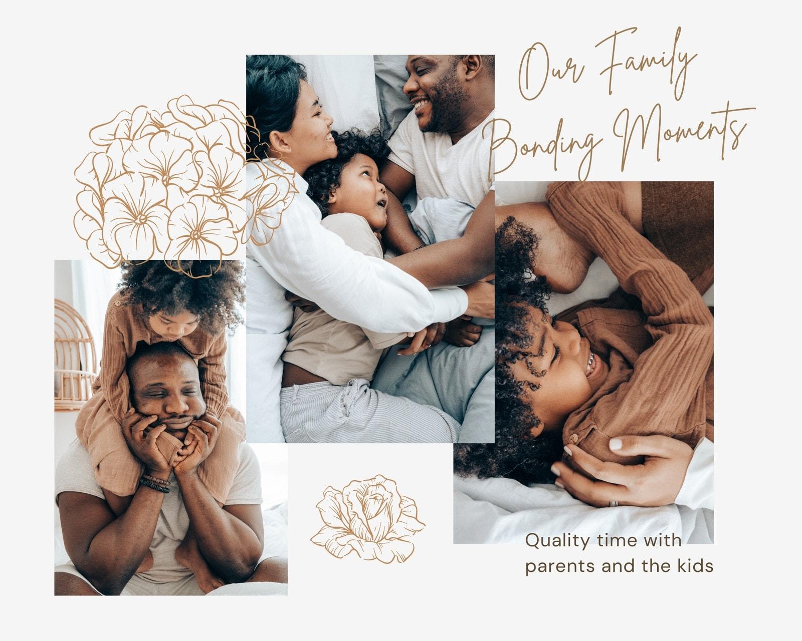 Brown Feminine Photo Album Family Animated Photo Collage