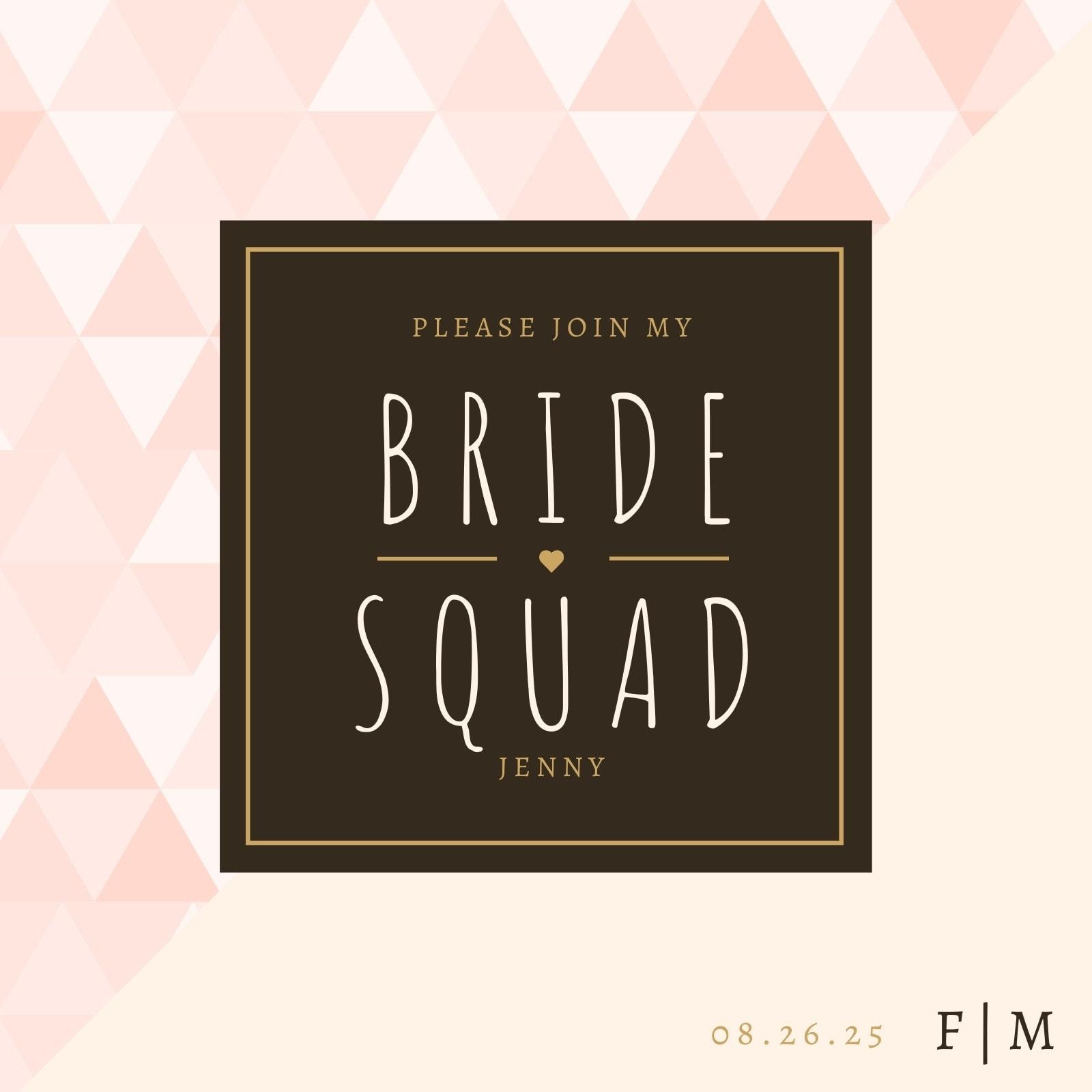 Be My Bridesmaid Invitation