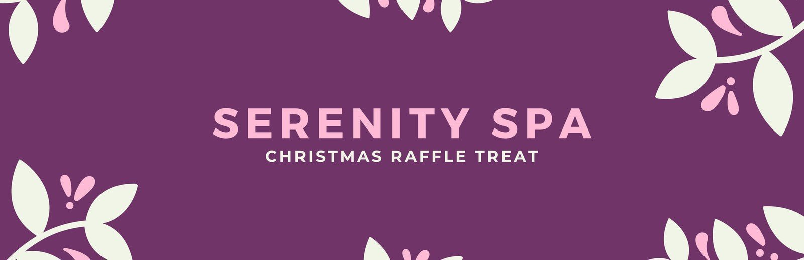 Purple and Pink Floral Spa Raffle Ticket