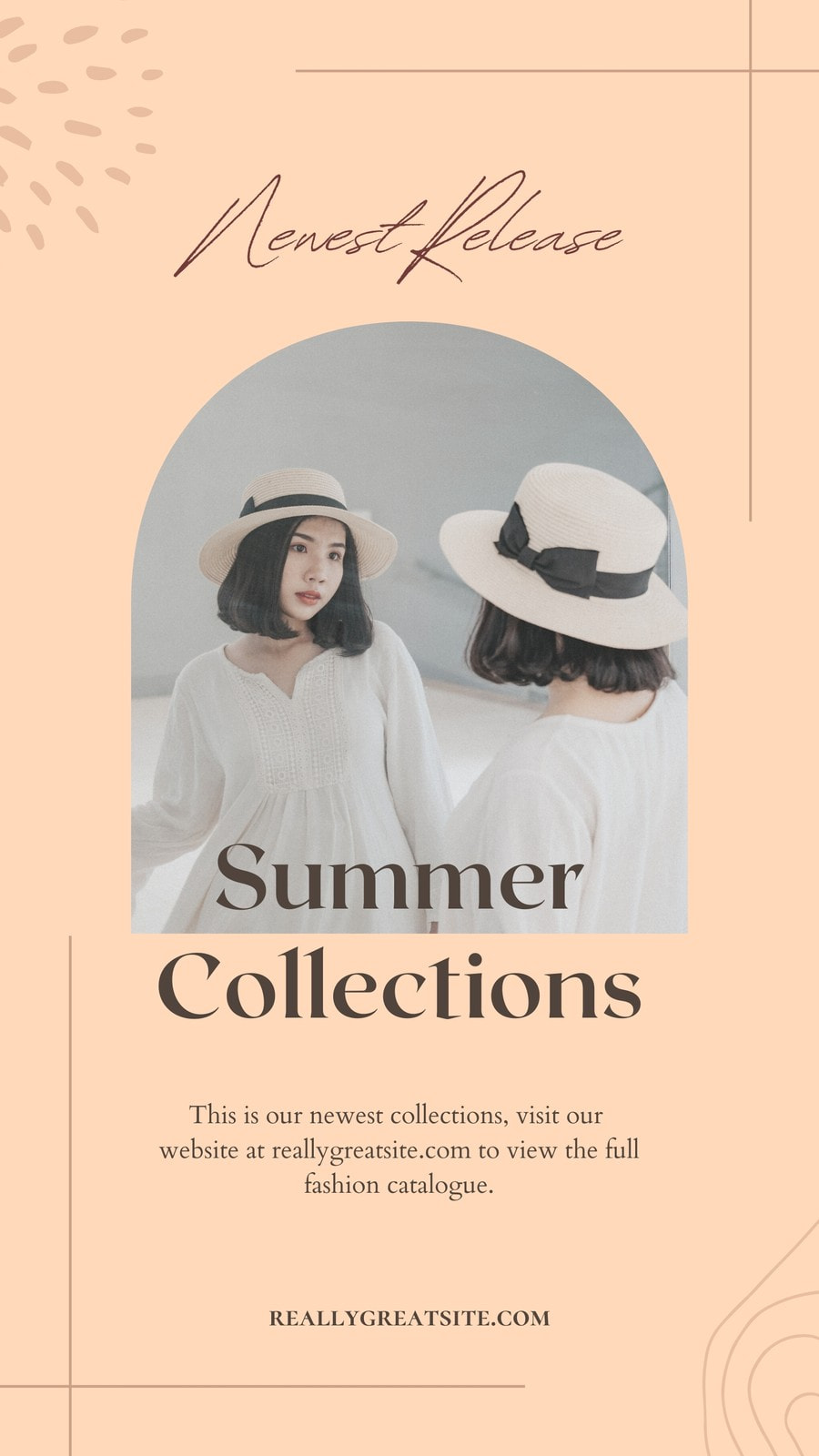 Peachy Fashion Collection Instagram Post