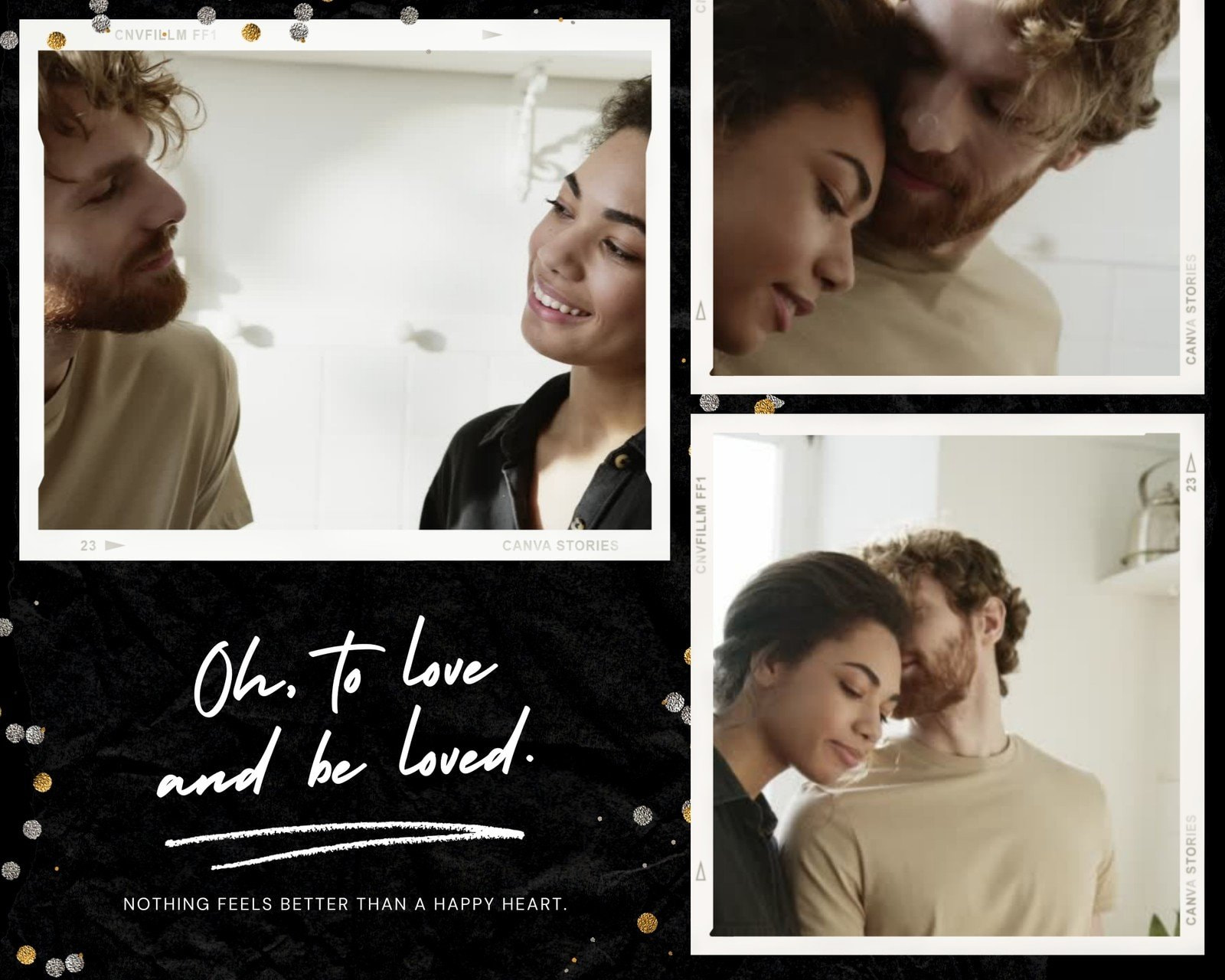 White and Black Video-centric Love Animated Photo Collage