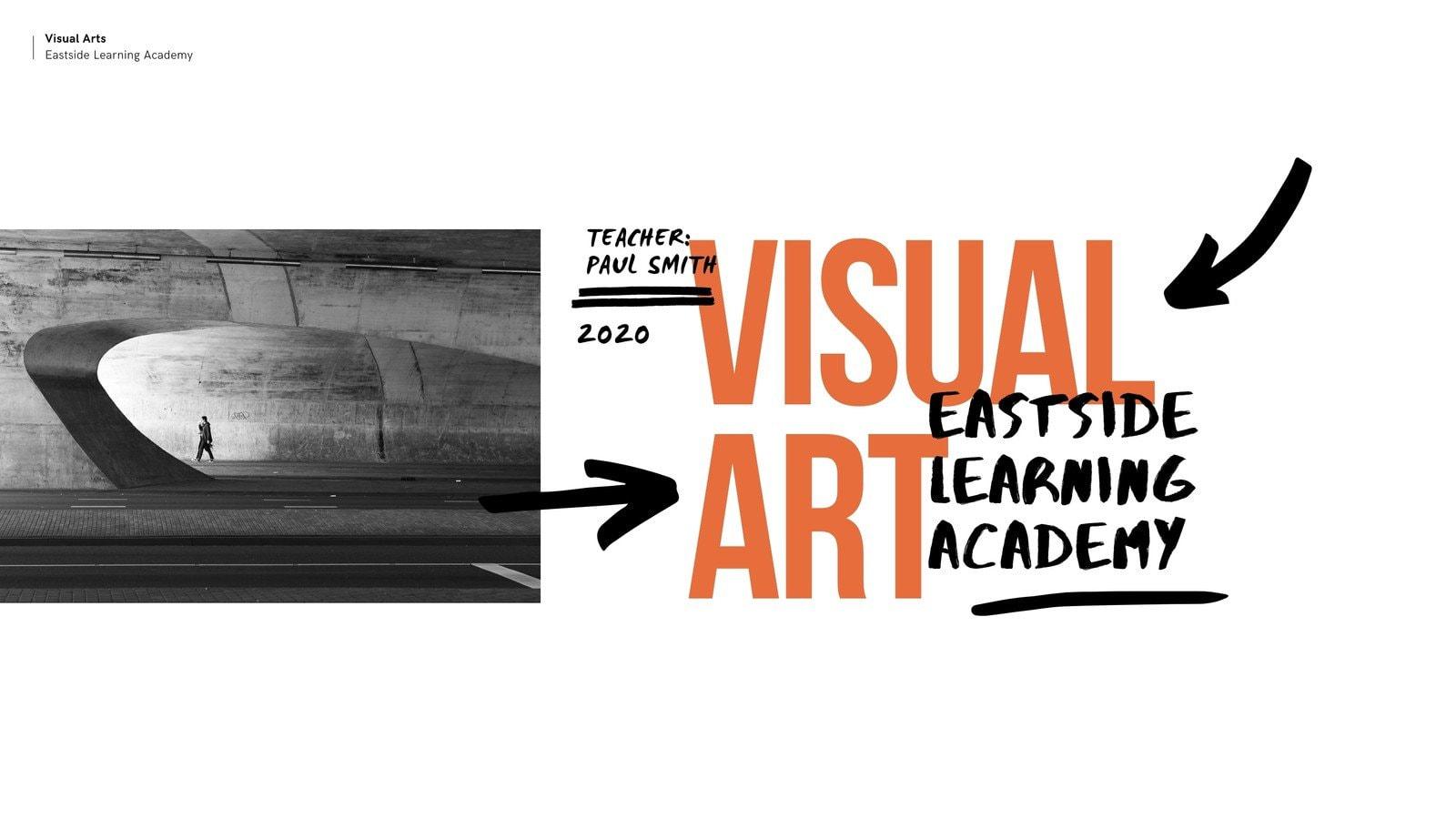 Orange and Black Abstract Visual Arts Class Education Video Presentation