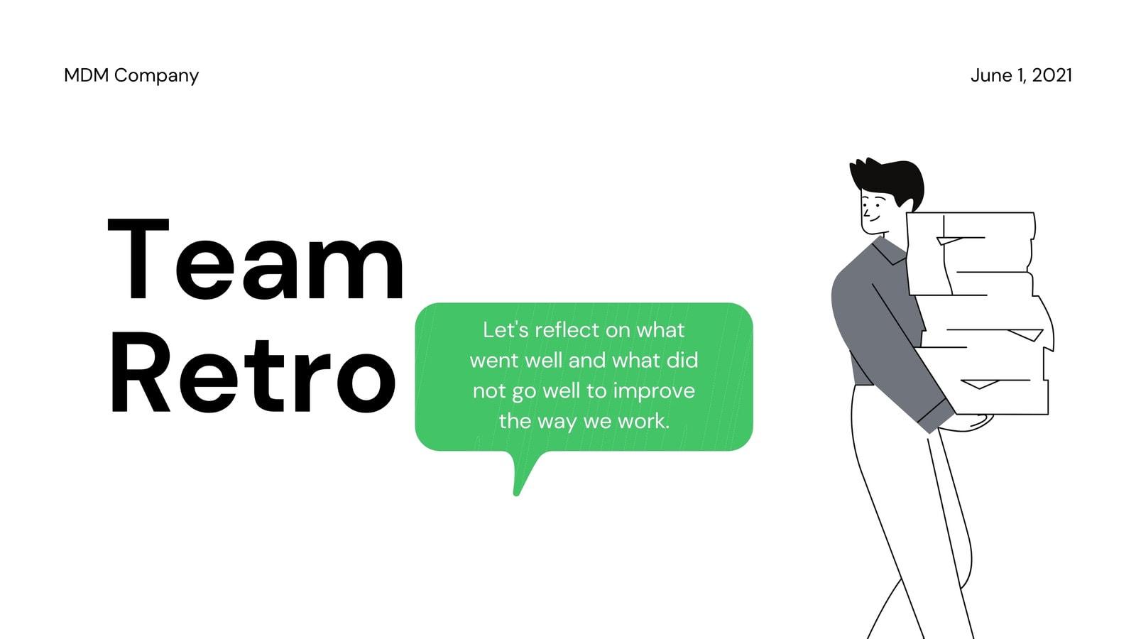 Simple Retro Brainstorm Video Presentation