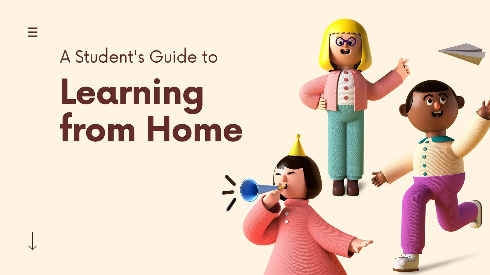 Colorful 3D Illustrated Remote Learning Video Presentation