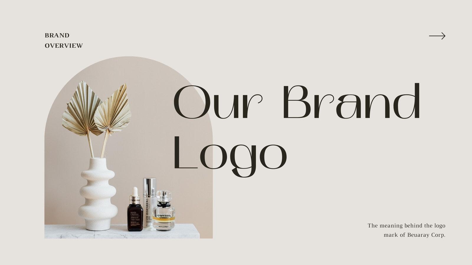 Brown Elegant Beauty Logo Guidelines Video Presentation