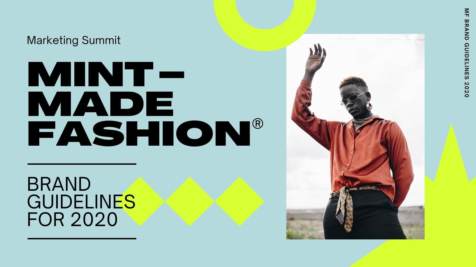 Mint Neon Experimental Fashion Brand Guidelines Video Presentation