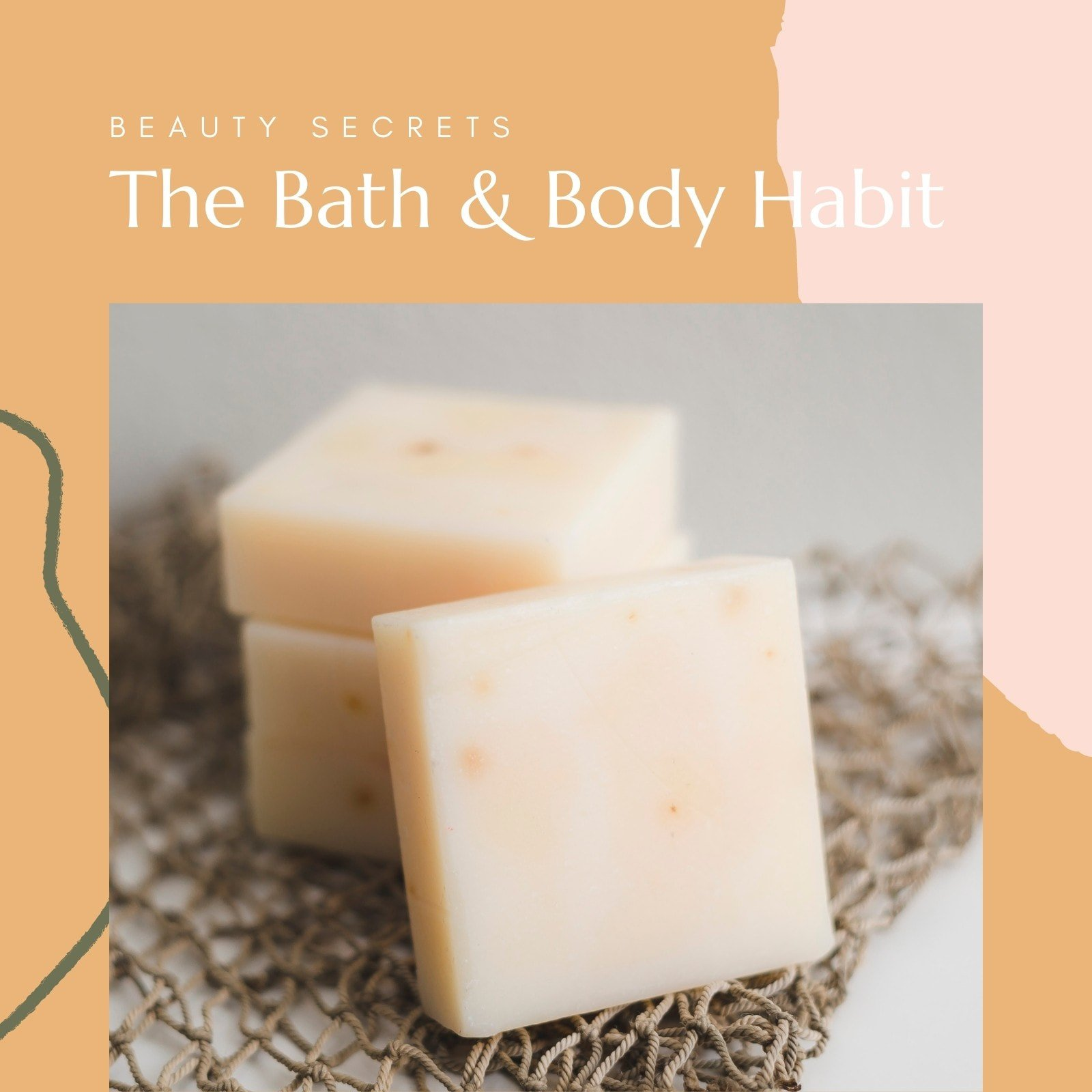 Yellow and Pink Bath & Body Habit Beauty Video Collage