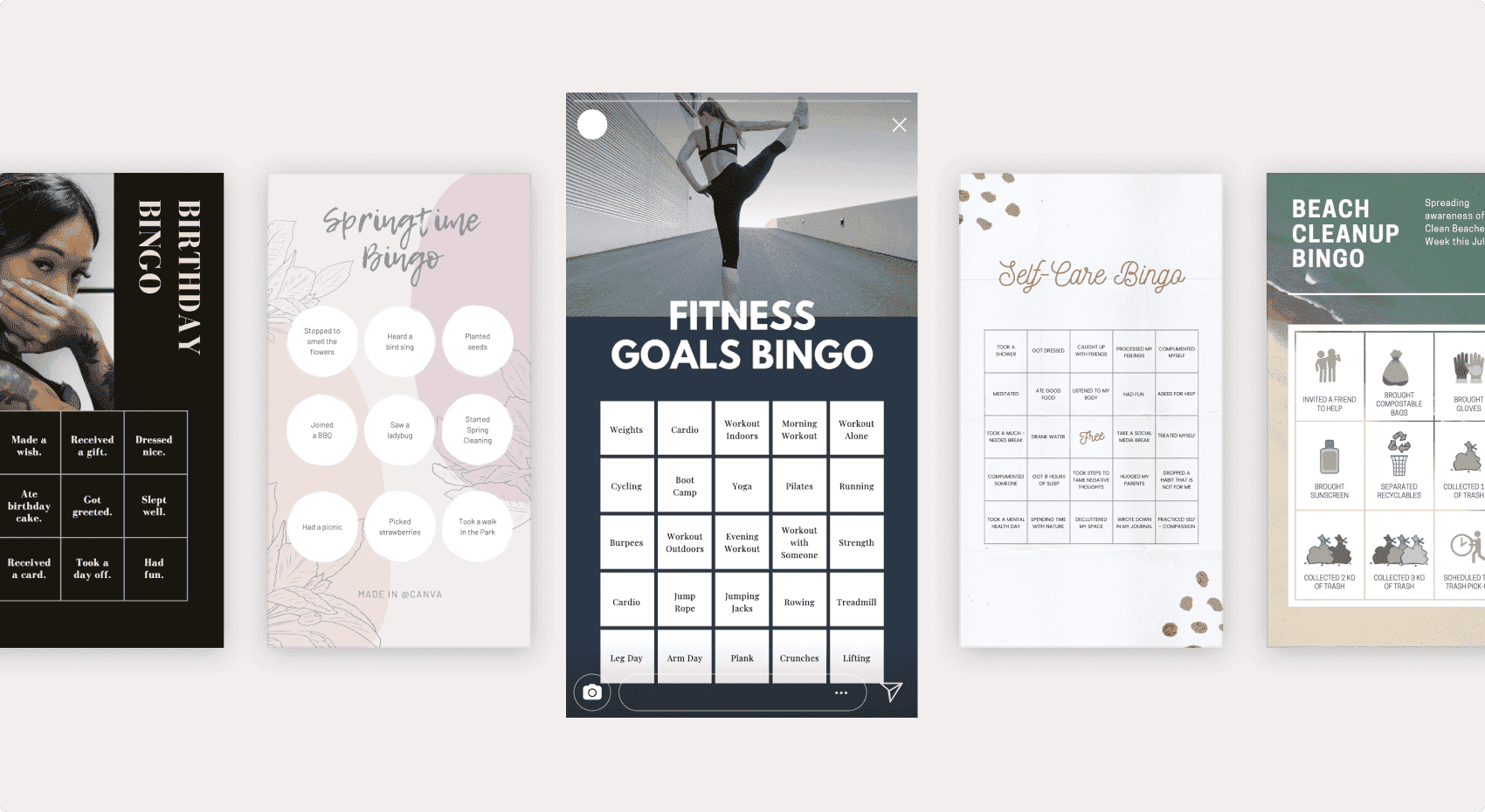 Canva bingo card designs