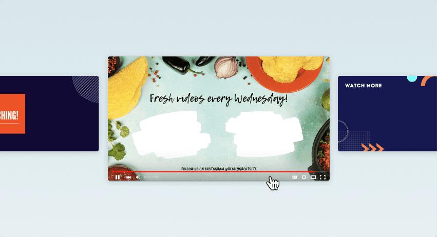Reka bentuk outro YouTube Canva