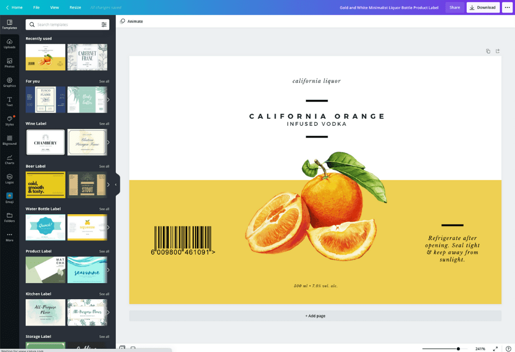 How to make a label - Canva
